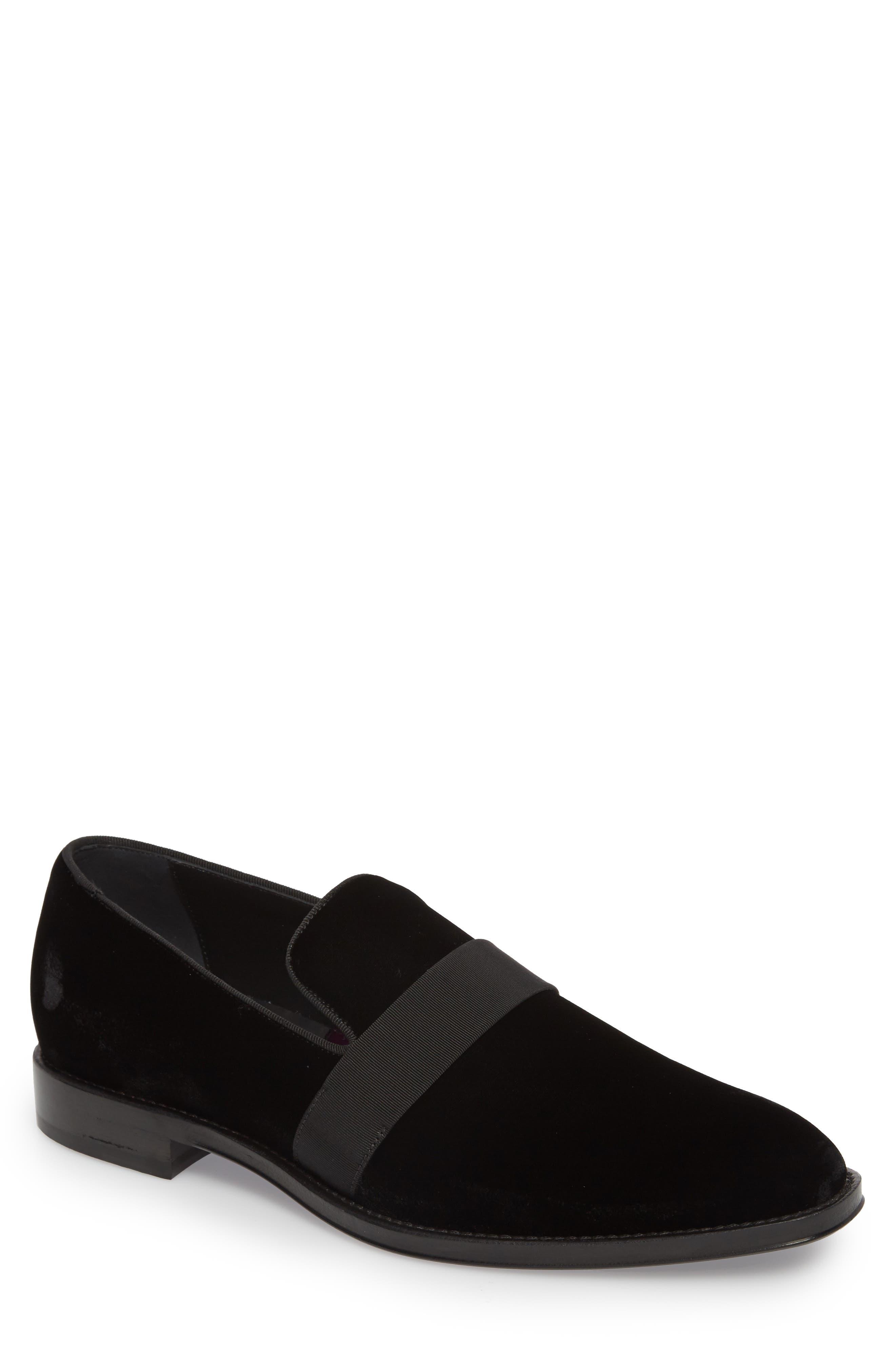 Velvet Loafer,                             Main thumbnail 1, color,                             Black