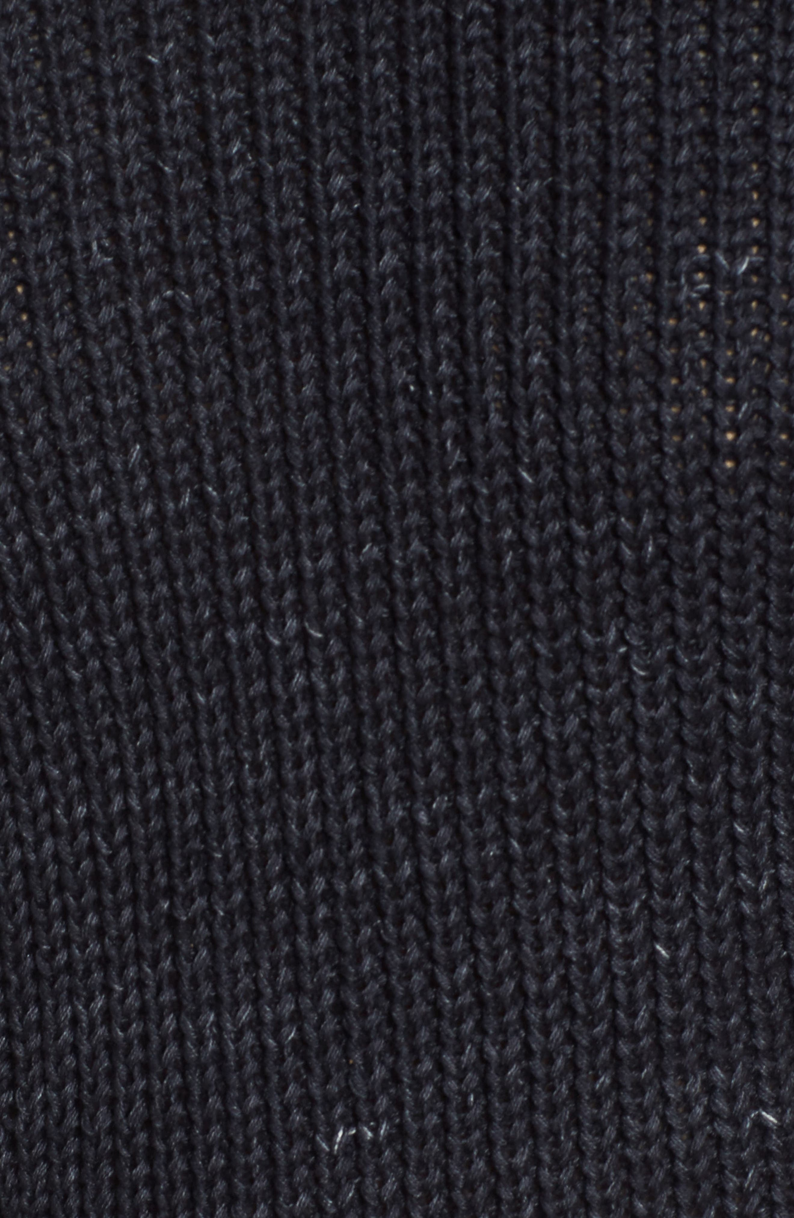 Finn Distressed Sweater,                             Alternate thumbnail 5, color,                             Speckled Midnight Sky