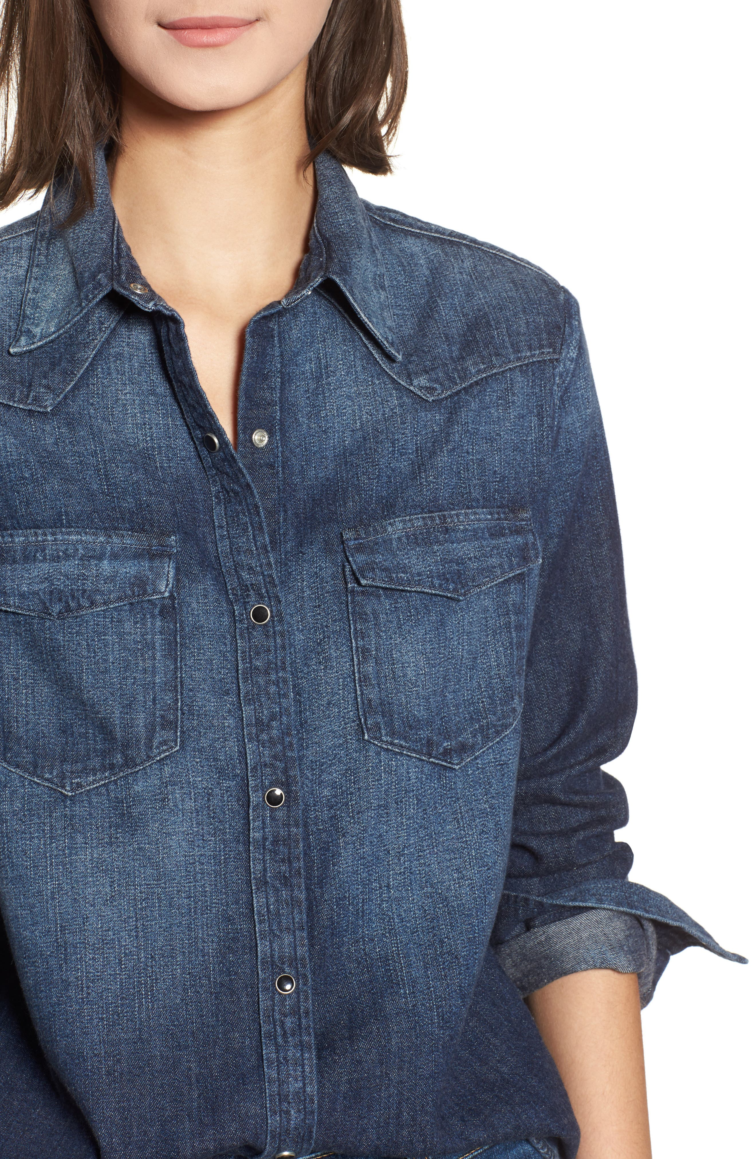 Deanna Denim Shirt,                             Alternate thumbnail 4, color,                             Timeless