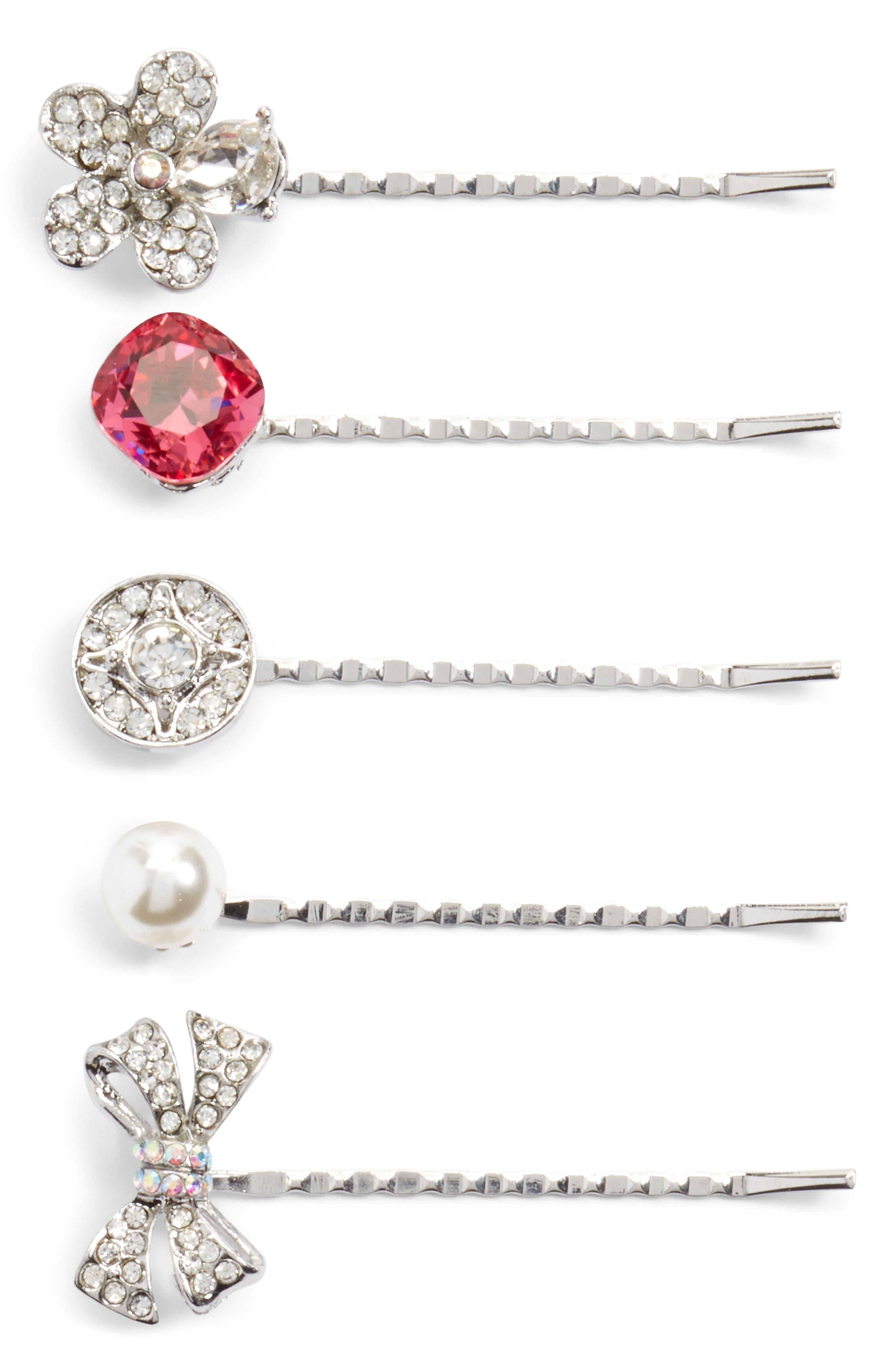 Main Image - Cara Embellished 5-Pack Bobby Pins