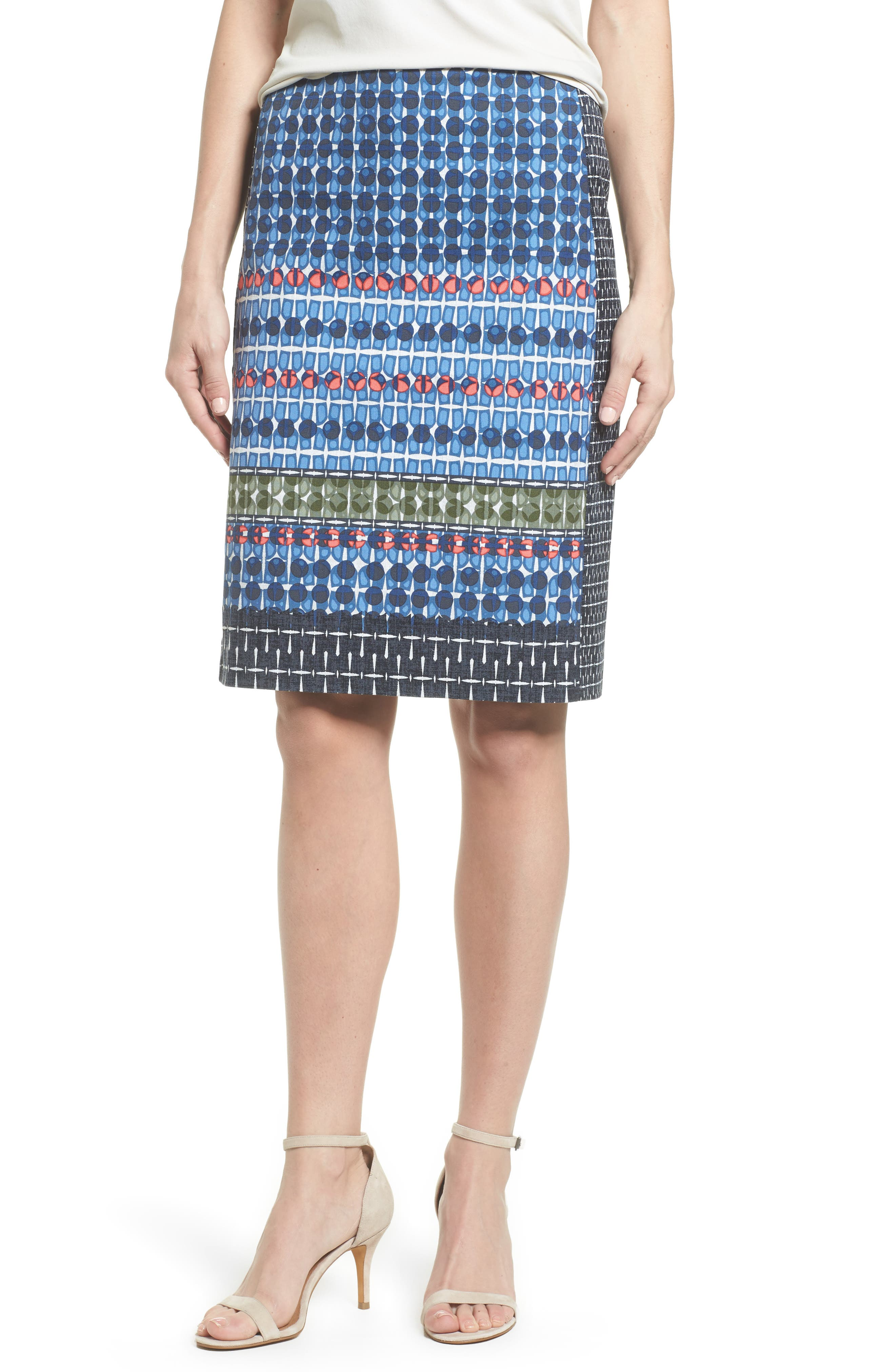 NIC + ZOE Tile Pencil Skirt,                         Main,                         color, Multi