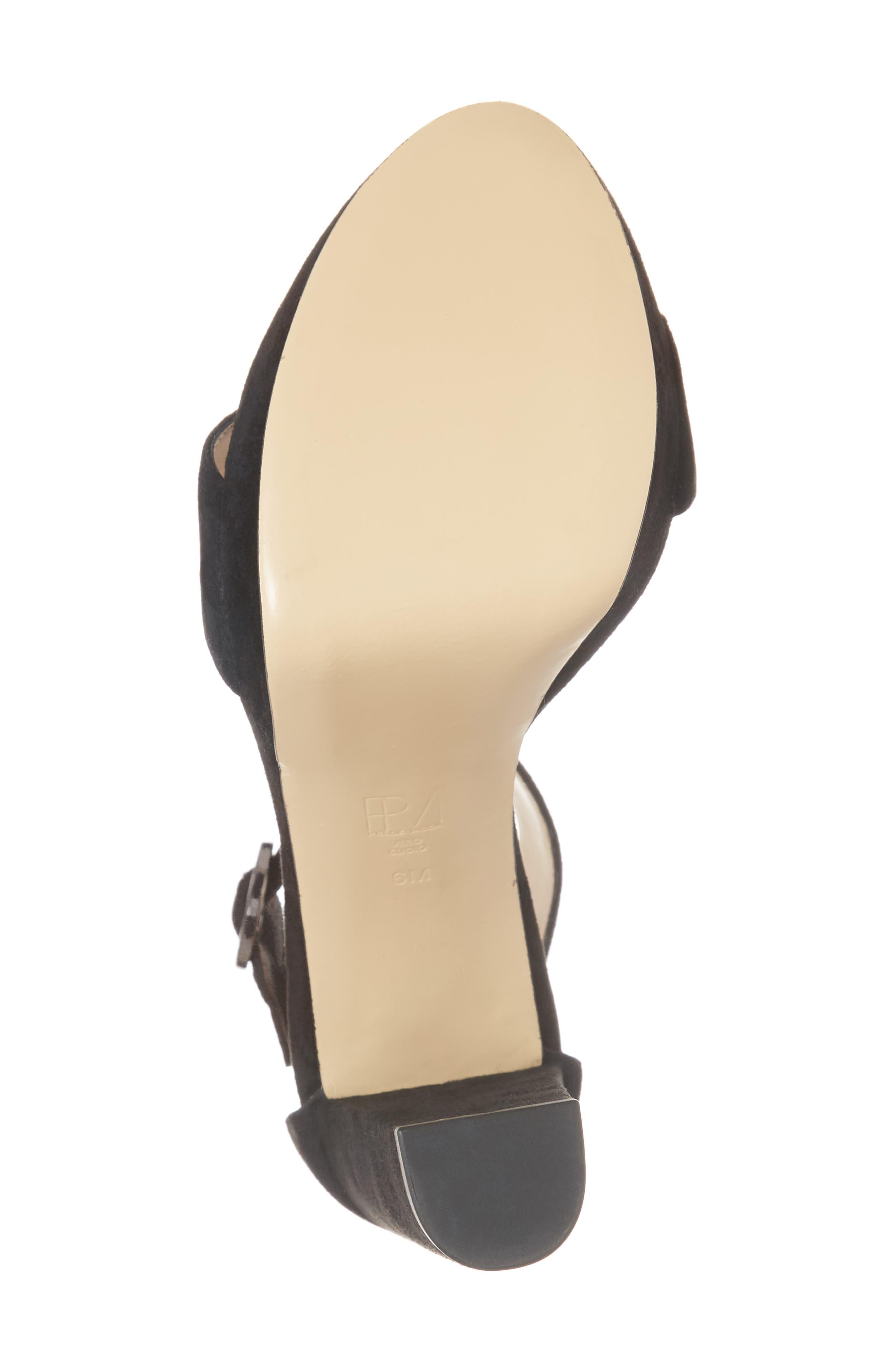 Palo 2 Platform Sandal,                             Alternate thumbnail 6, color,                             Black Suede