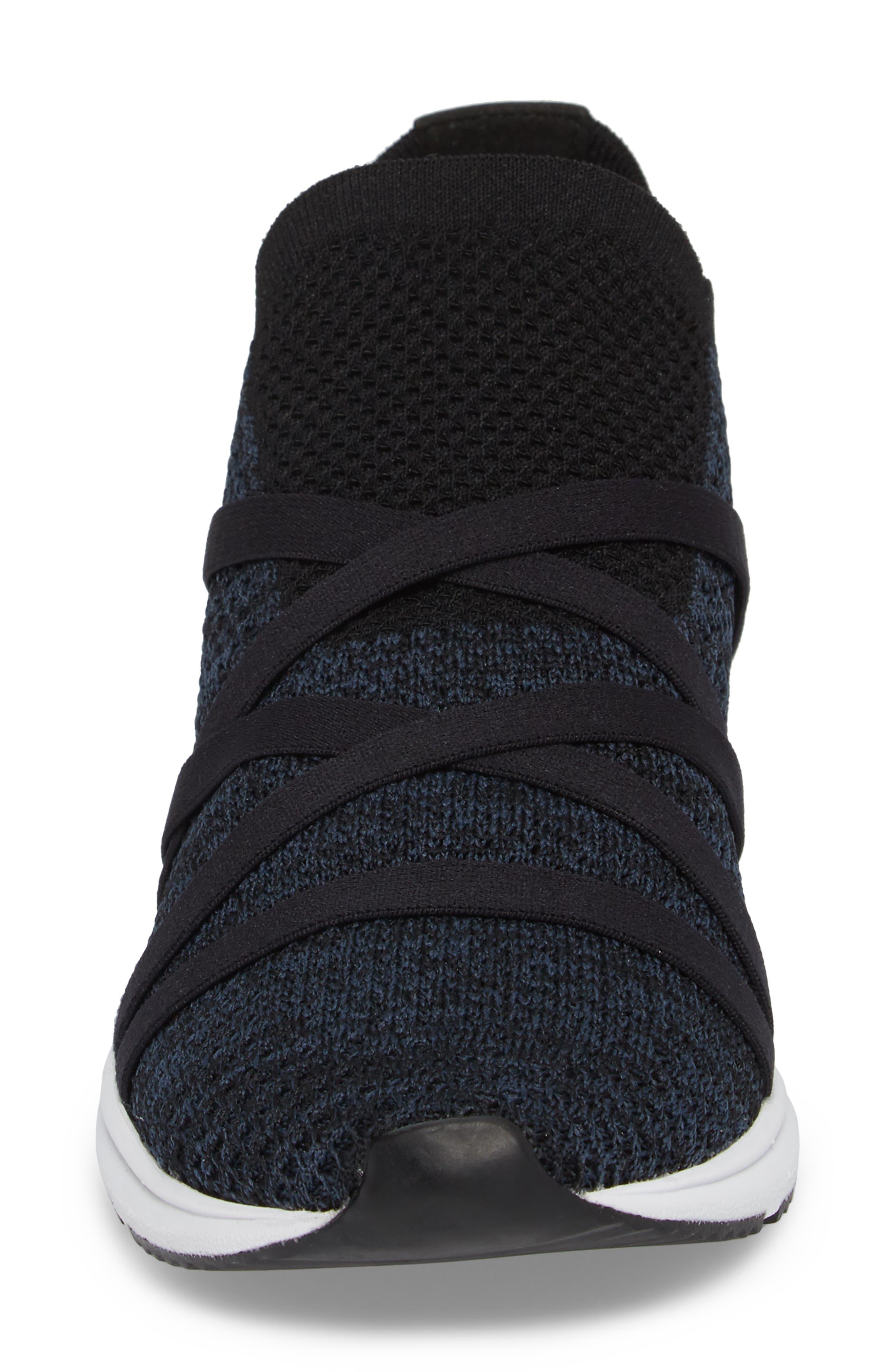 Xanady Woven Slip-On Sneaker,                             Alternate thumbnail 4, color,                             Black/ Marine Stretch