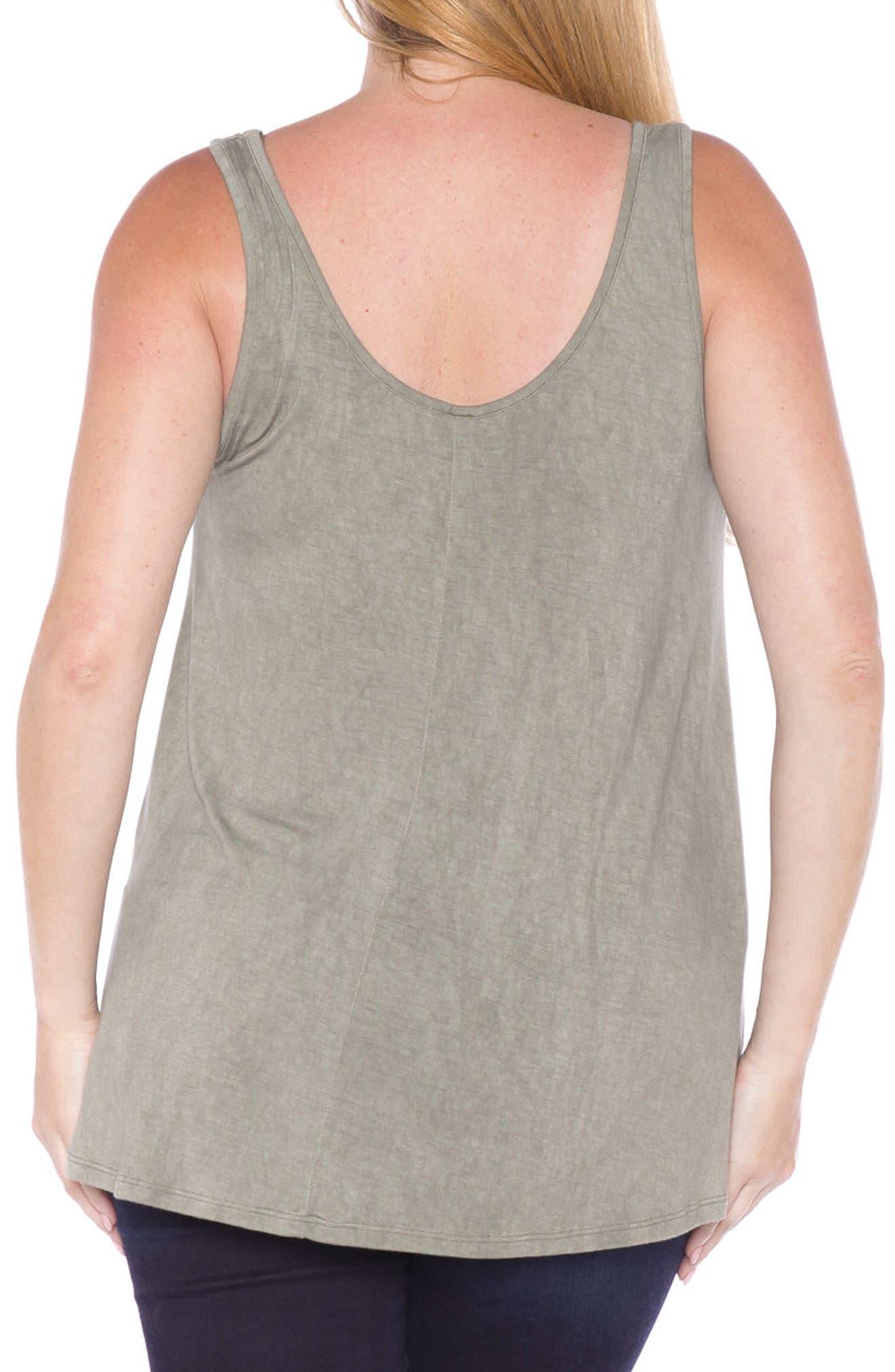 Alternate Image 2  - SLINK Jeans Scoop Neck Tank Top (Plus Size)