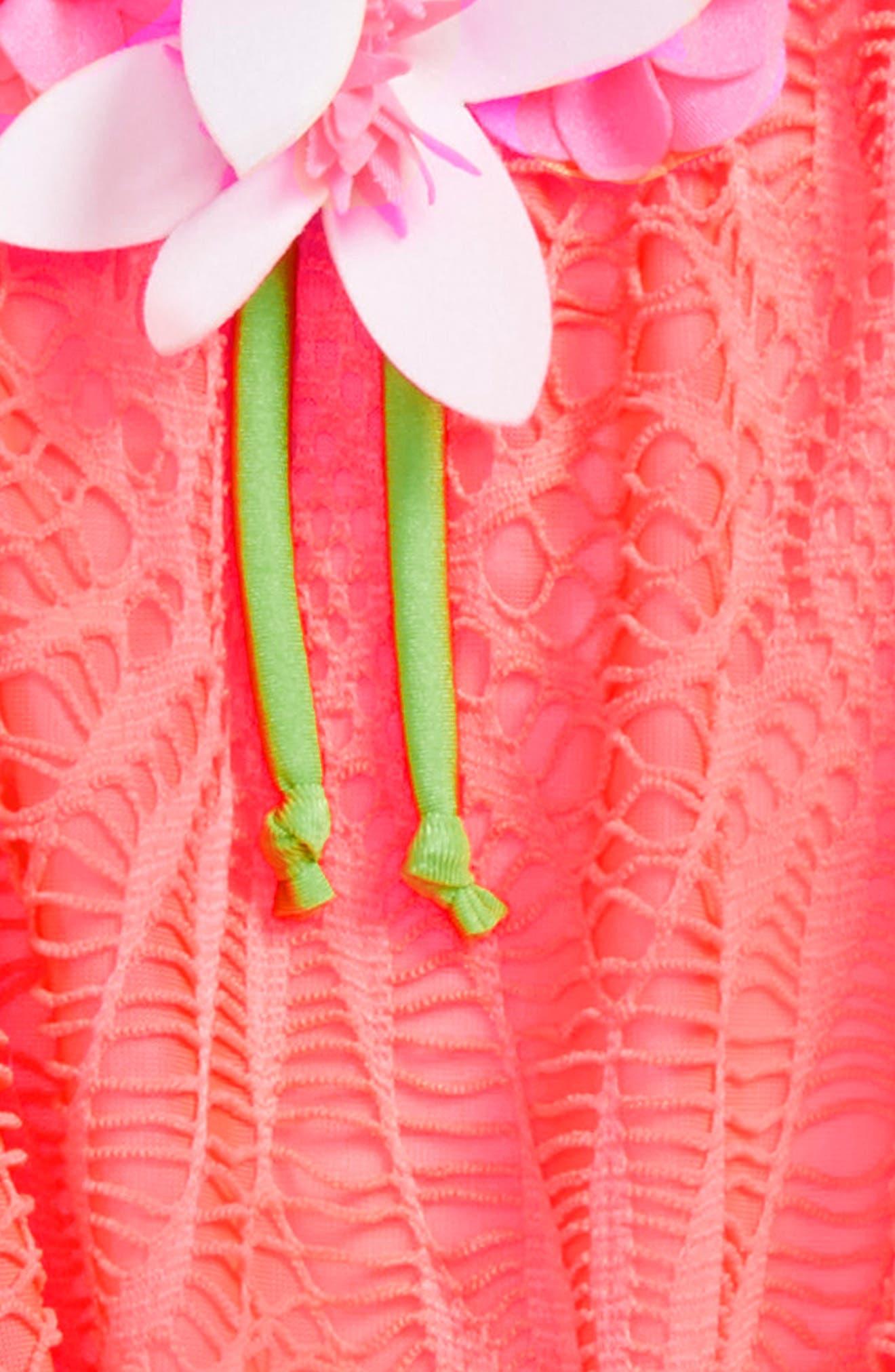 Alternate Image 2  - Love U Lots Crochet Tankini Two-Piece Swimsuit (Toddler Girls & Little Girls)