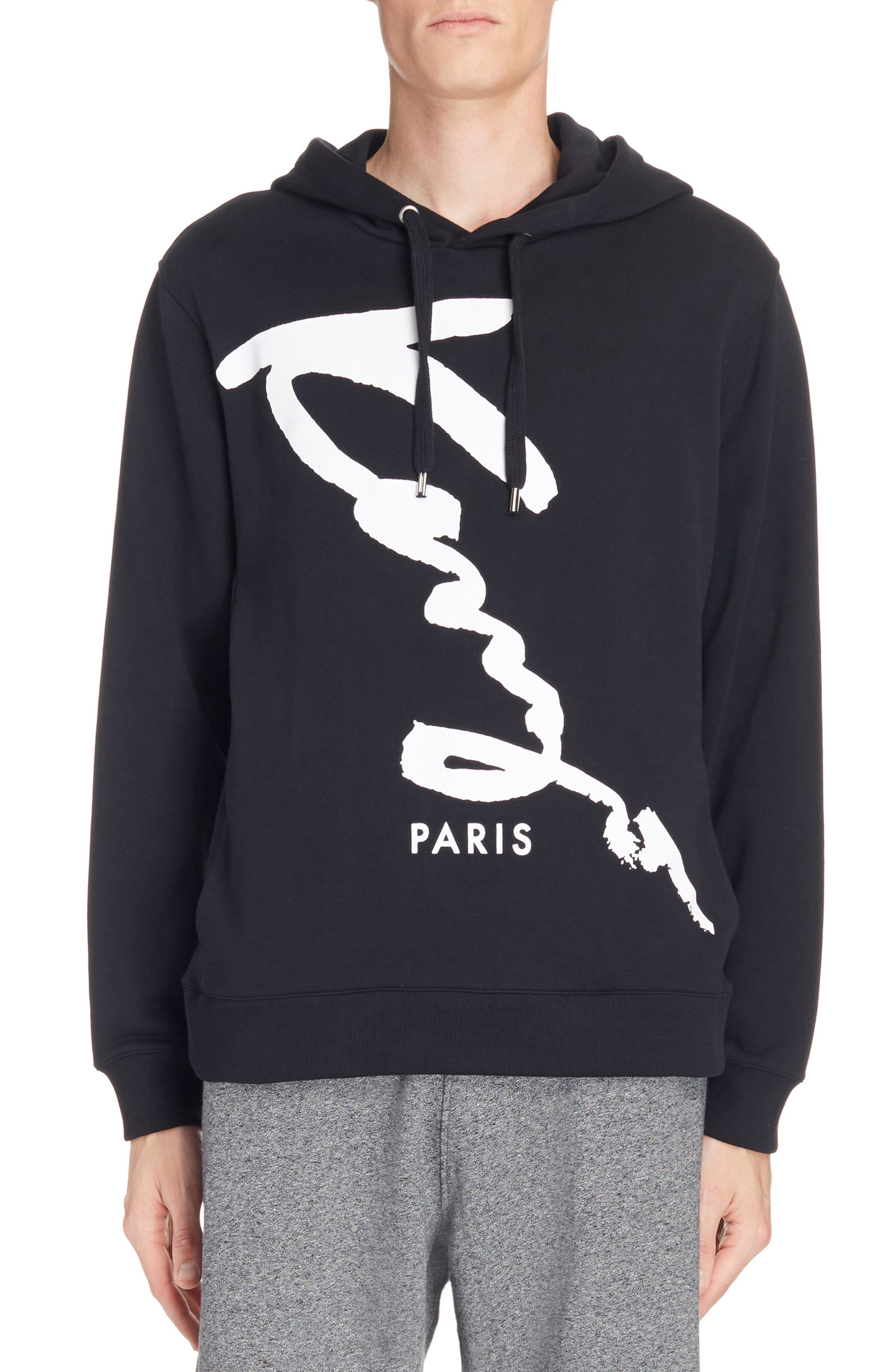 Alternate Image 1 Selected - KENZO Cursive Logo Graphic Hoodie