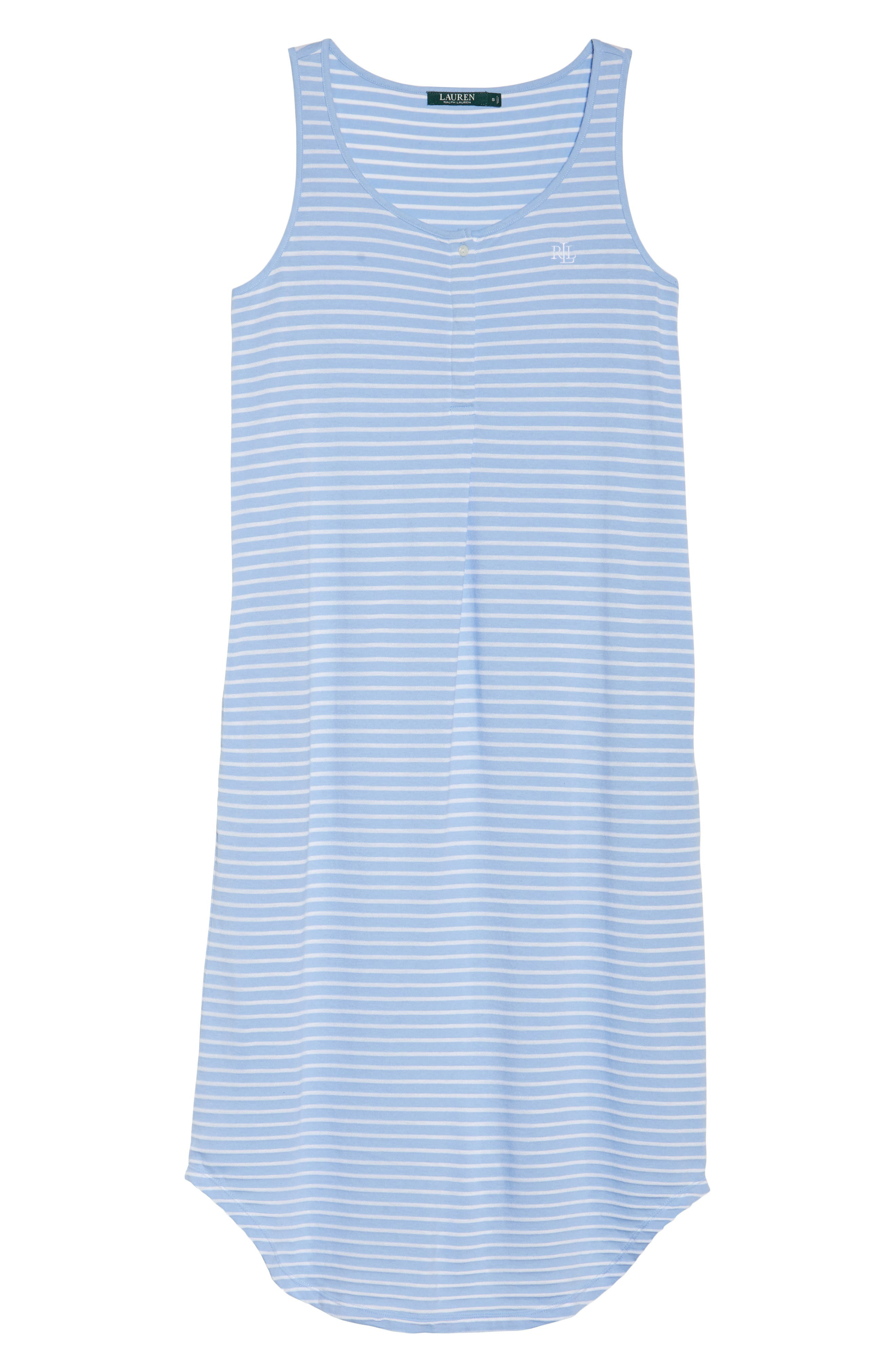 Piqué Cotton Ballet Gown,                             Alternate thumbnail 4, color,                             Blue Stripe