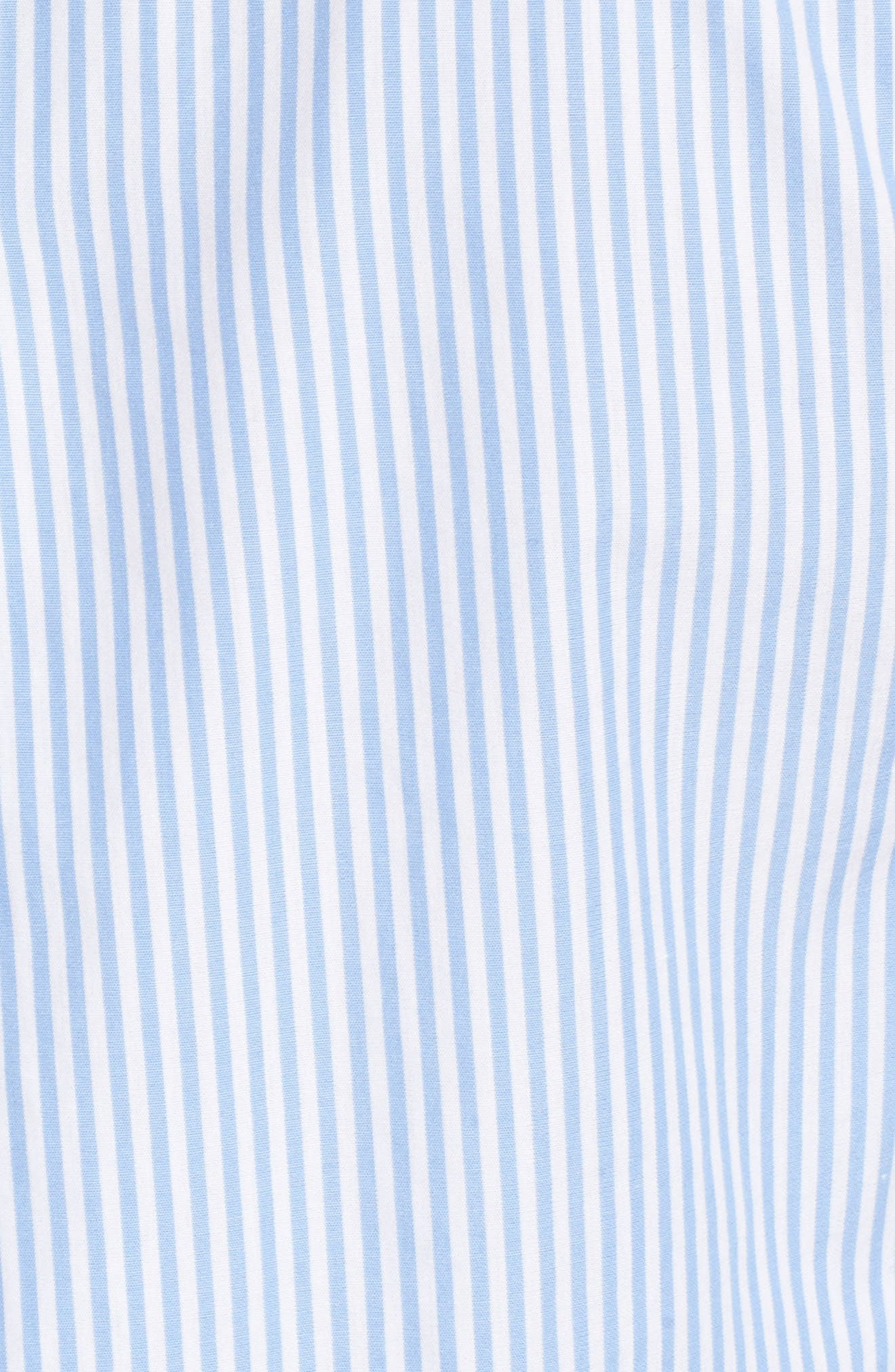 Pinstripe Cotton Top,                             Alternate thumbnail 5, color,                             Hydrangea
