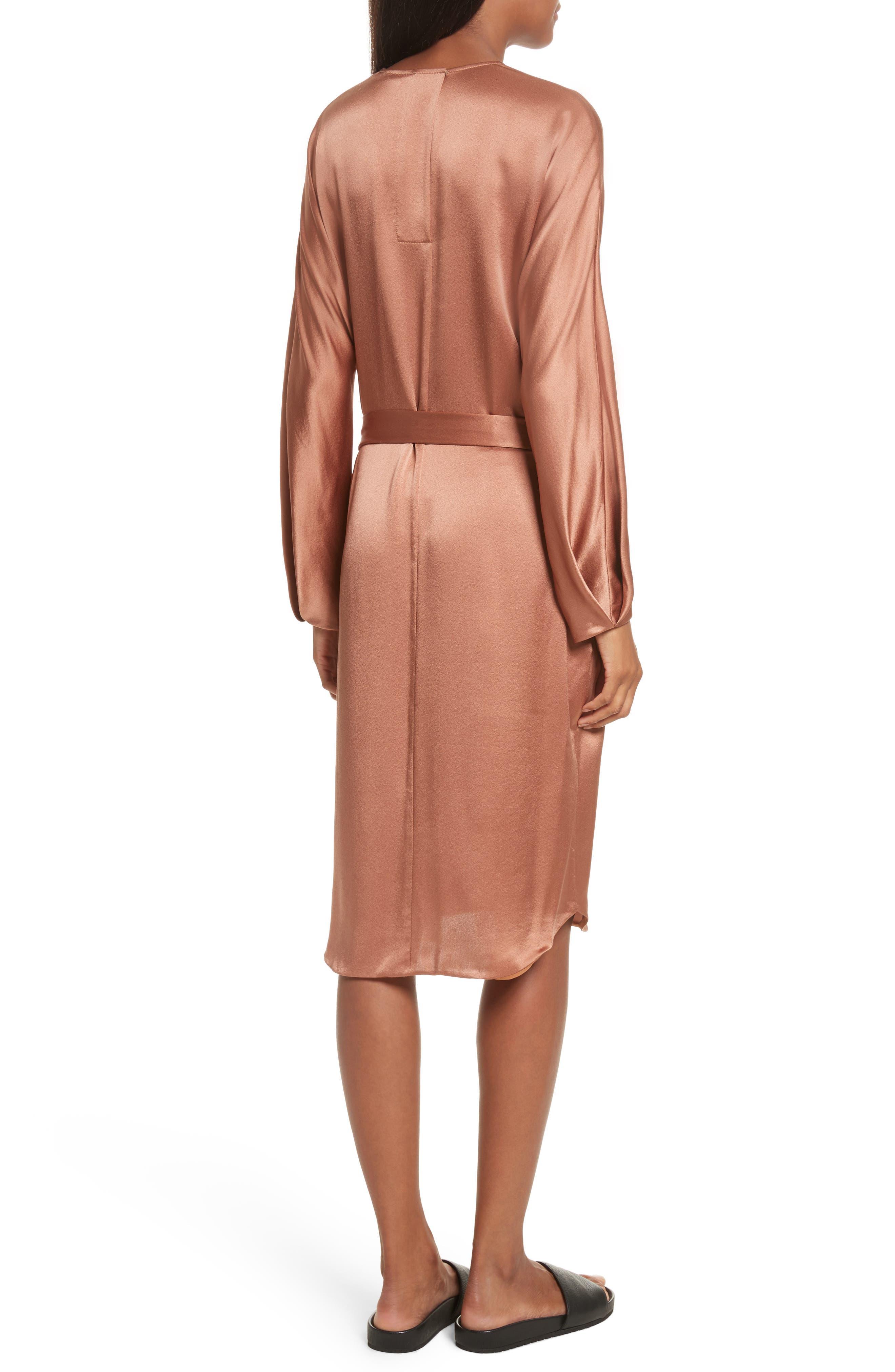 Alternate Image 2  - Vince Seam Front Silk Dress