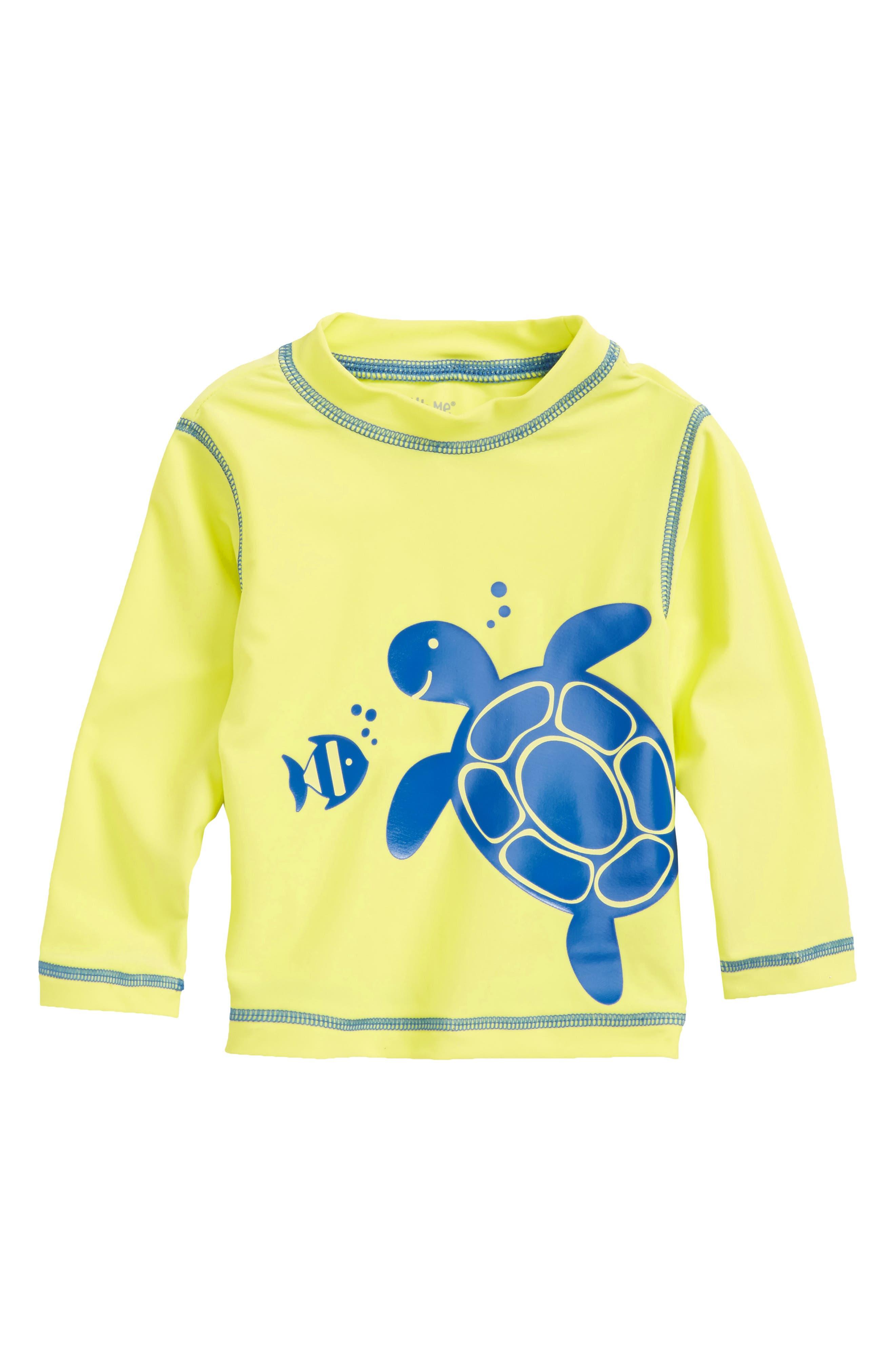 Turtle UPF 50+ Rashguard,                             Main thumbnail 1, color,                             Green