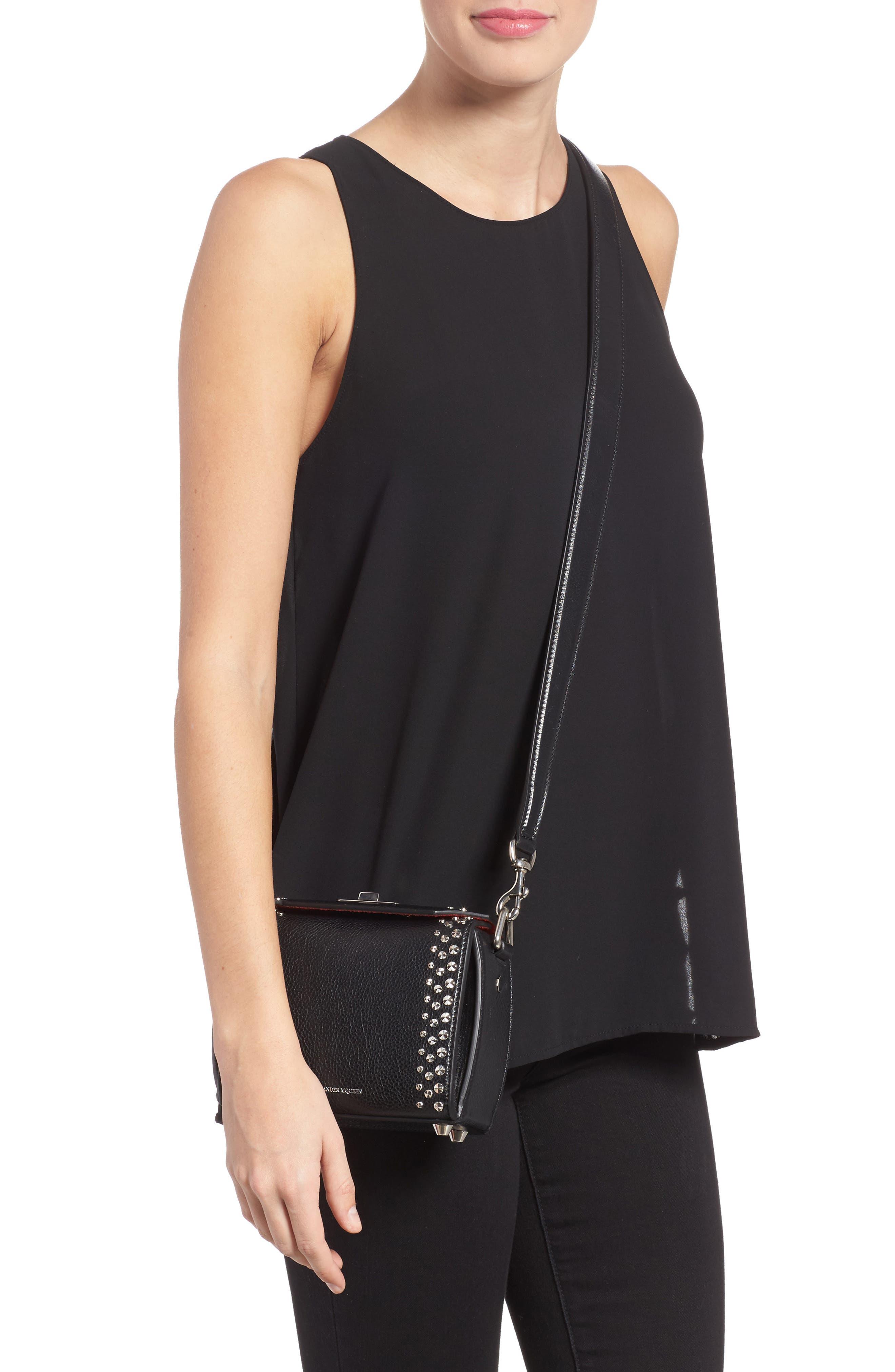 Alternate Image 2  - Alexander McQueen Box Bag 16 Studded Leather Bag