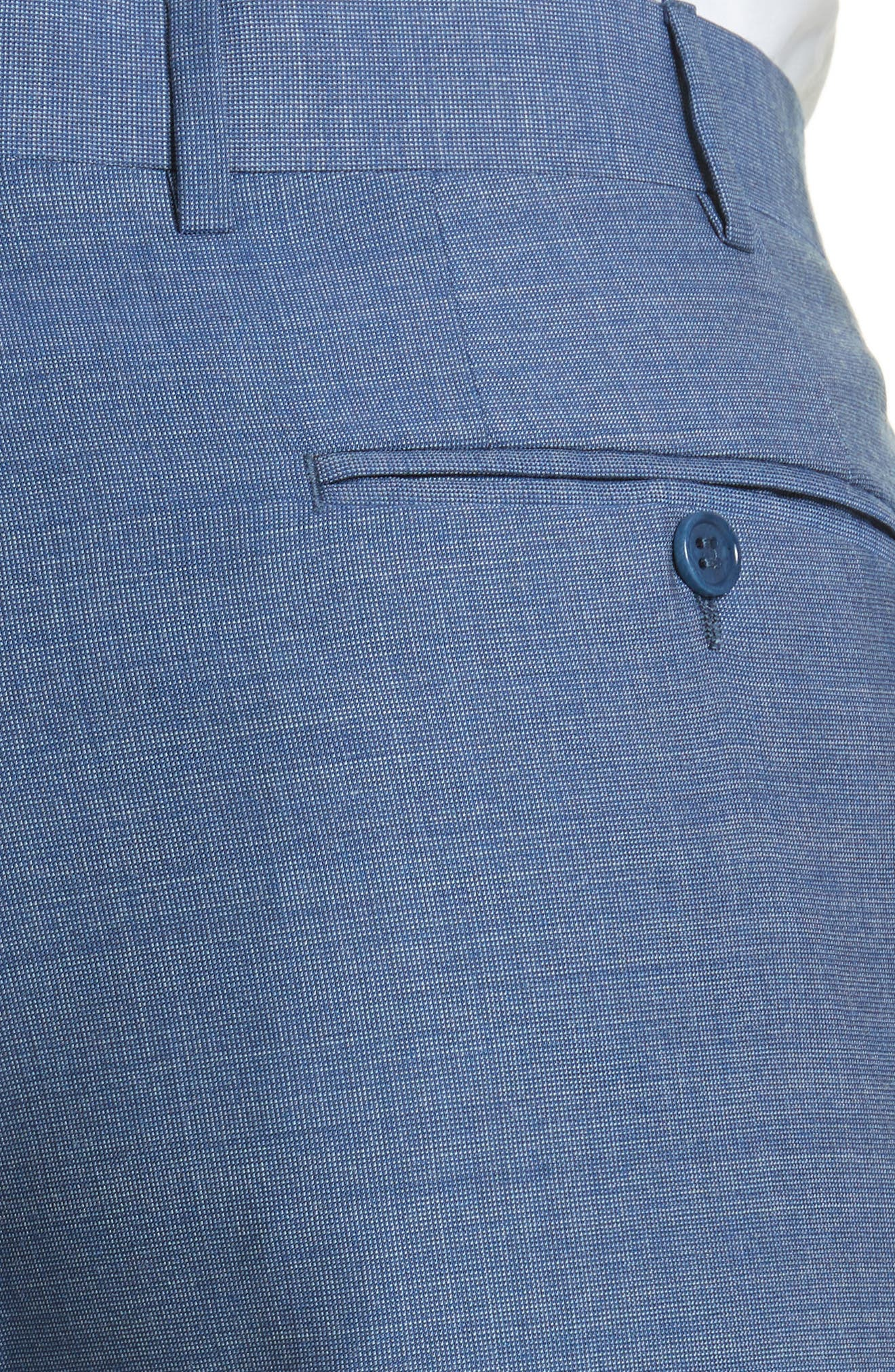 Alternate Image 5  - Canali Flat Front Solid Wool Trousers