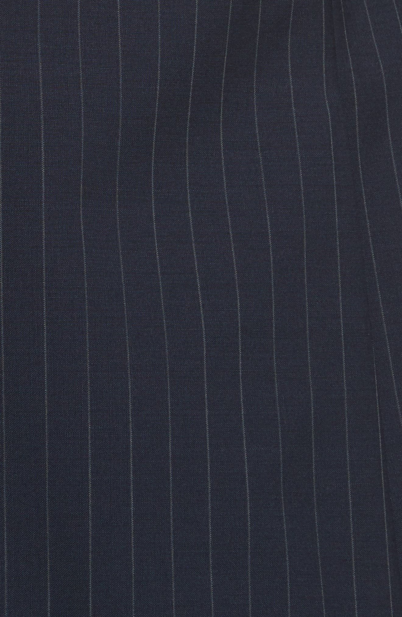 Classic Fit Stripe Wool Suit,                             Alternate thumbnail 7, color,                             Navy Stripe
