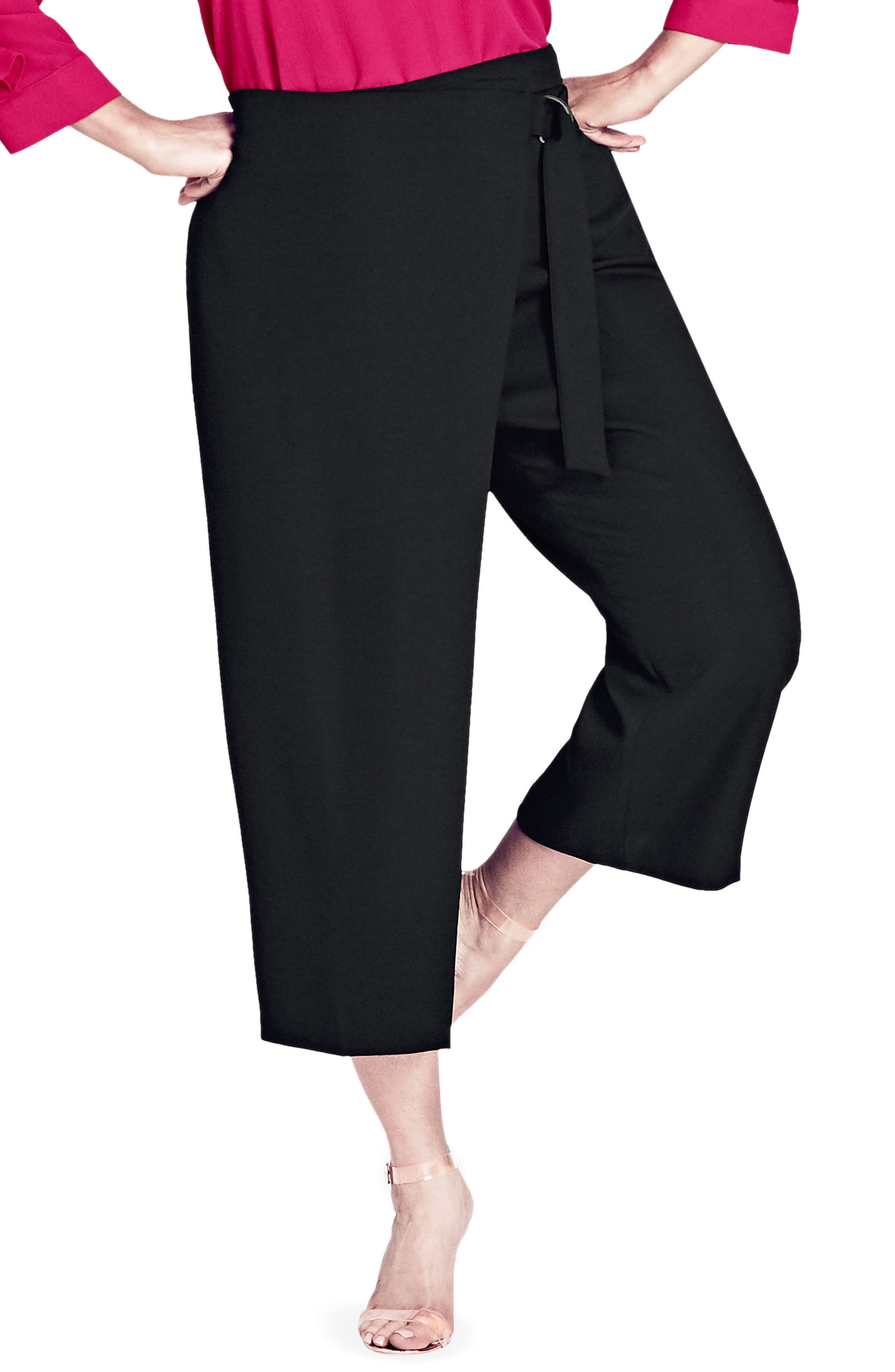 Main Image - City Chic Wrap Up Crop Pants (Plus Size)