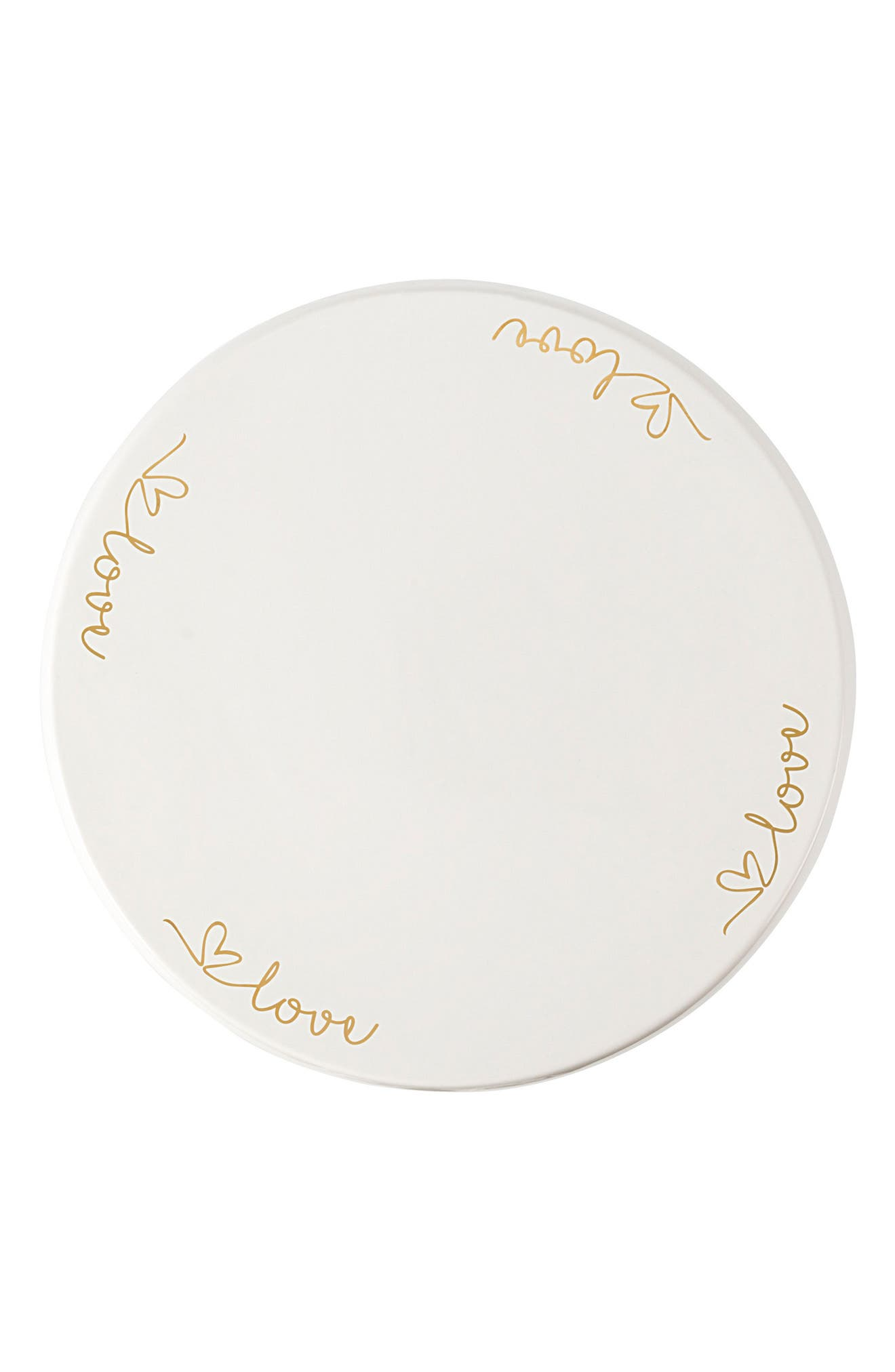 Love Cake Stand,                             Alternate thumbnail 3, color,                             Gold
