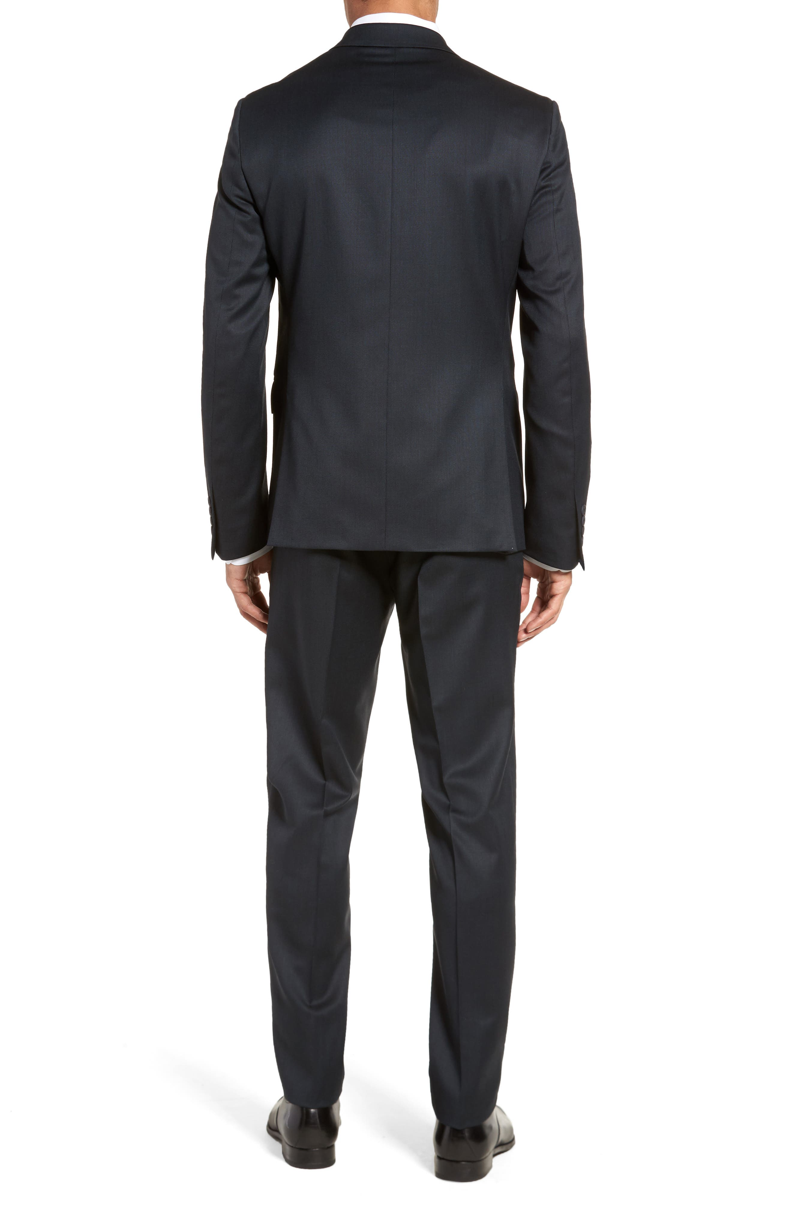 Extra Trim Fit Solid Wool Suit,                             Alternate thumbnail 2, color,                             Navy
