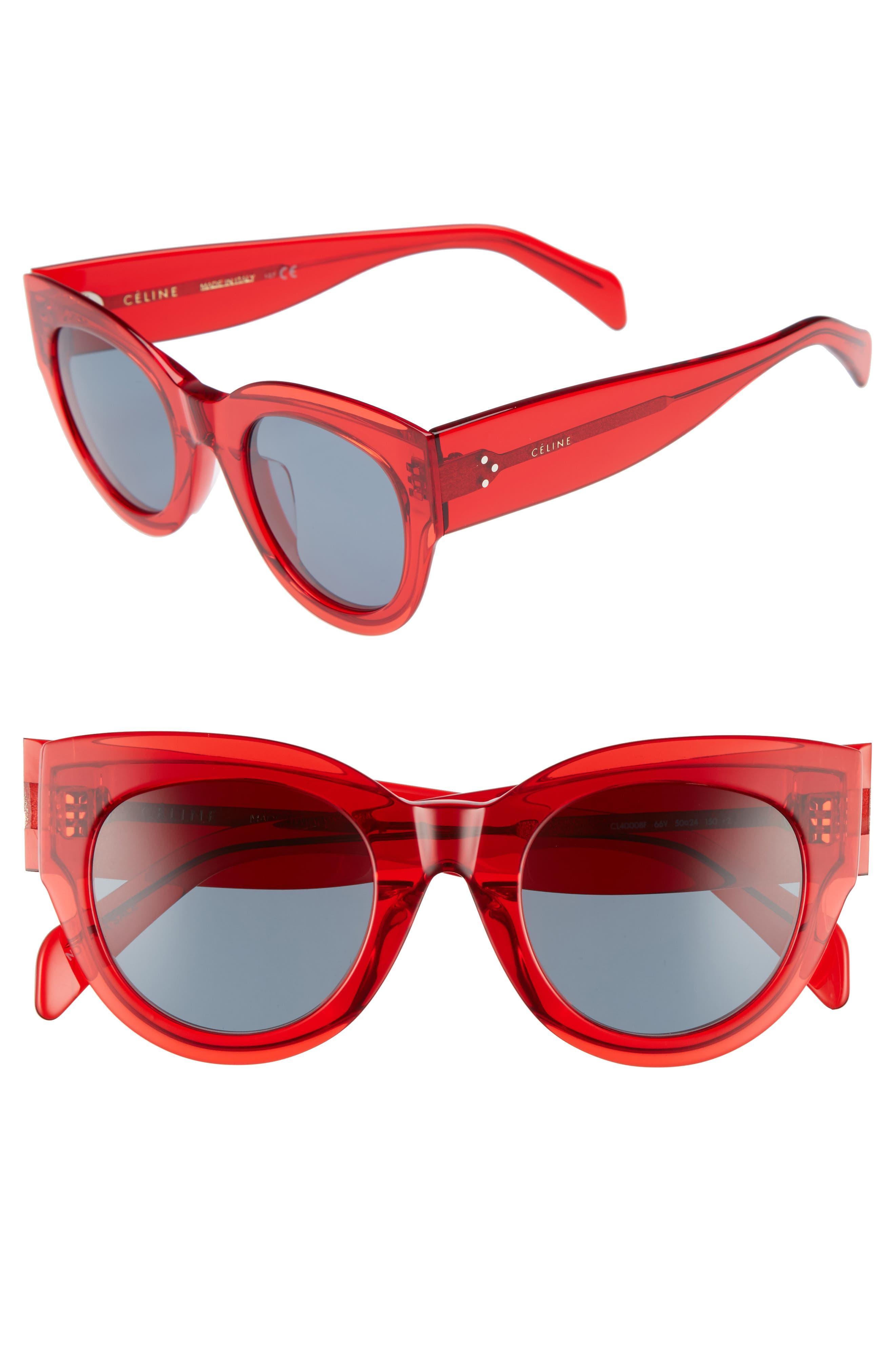 Céline Special Fit 50mm Cat Eye Sunglasses