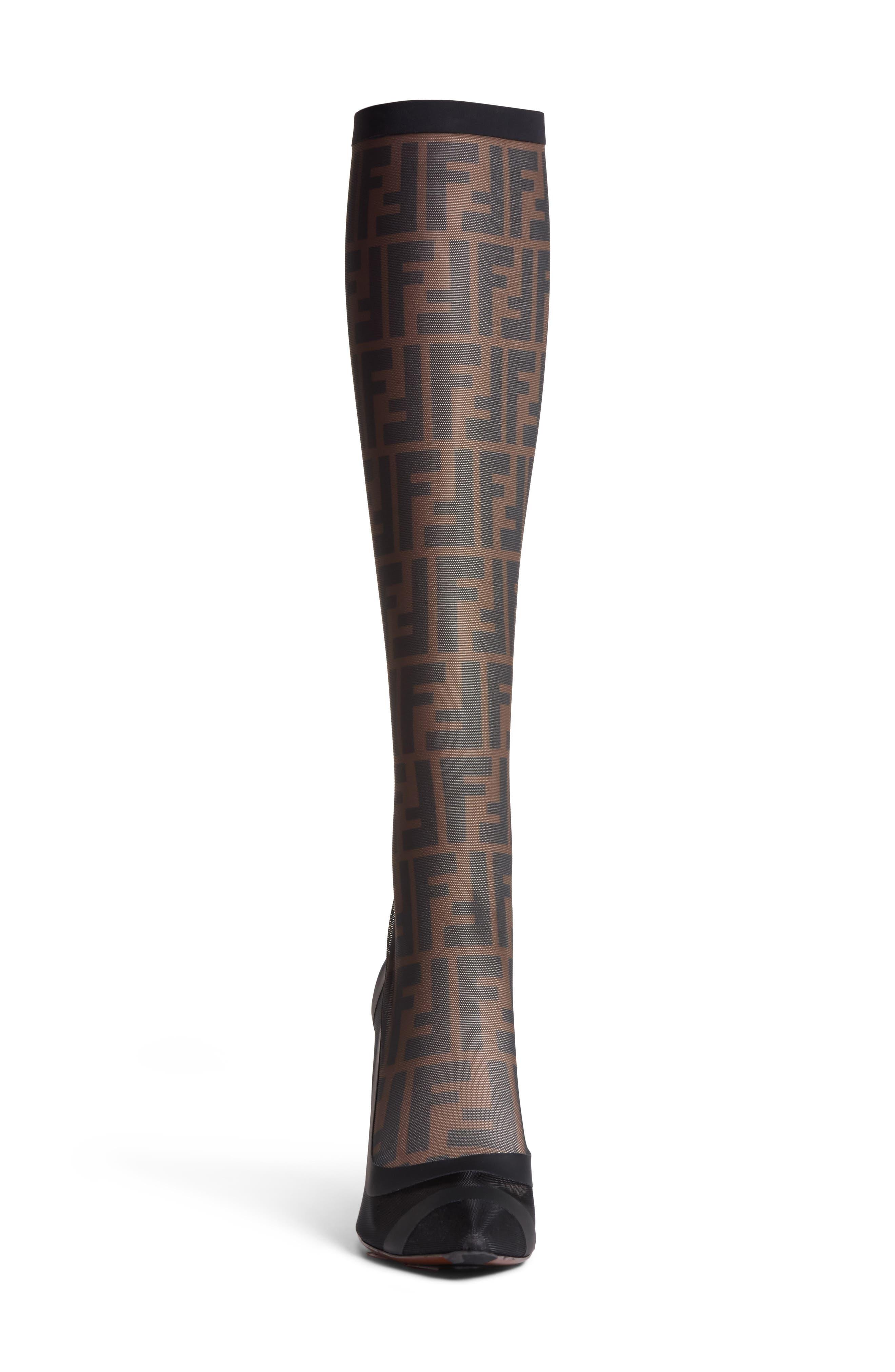 Alternate Image 3  - Fendi Logo Sock Pointy Toe Pump (Women)