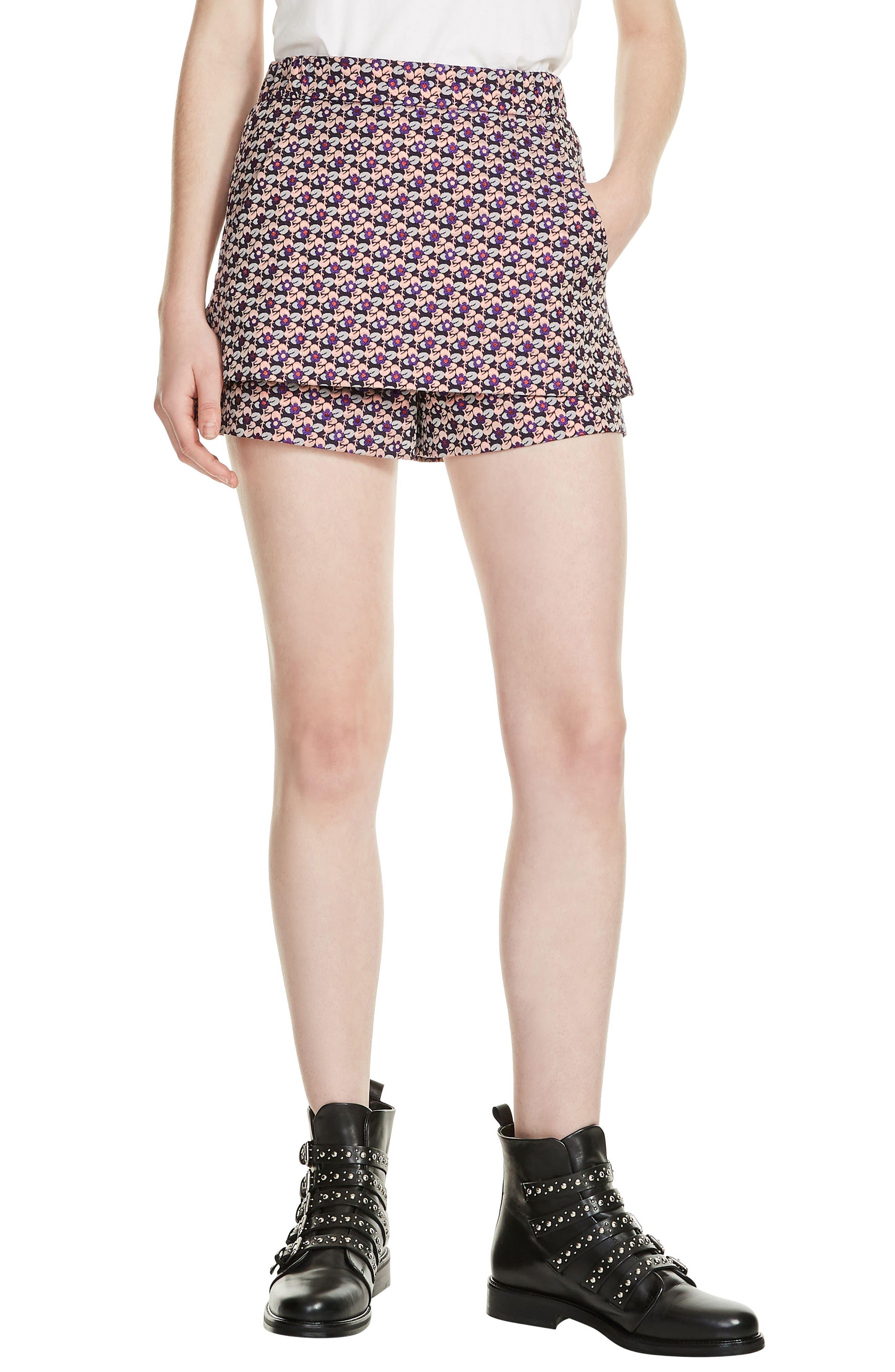 Jacquard Skirt Front Shorts,                         Main,                         color, Jacquard
