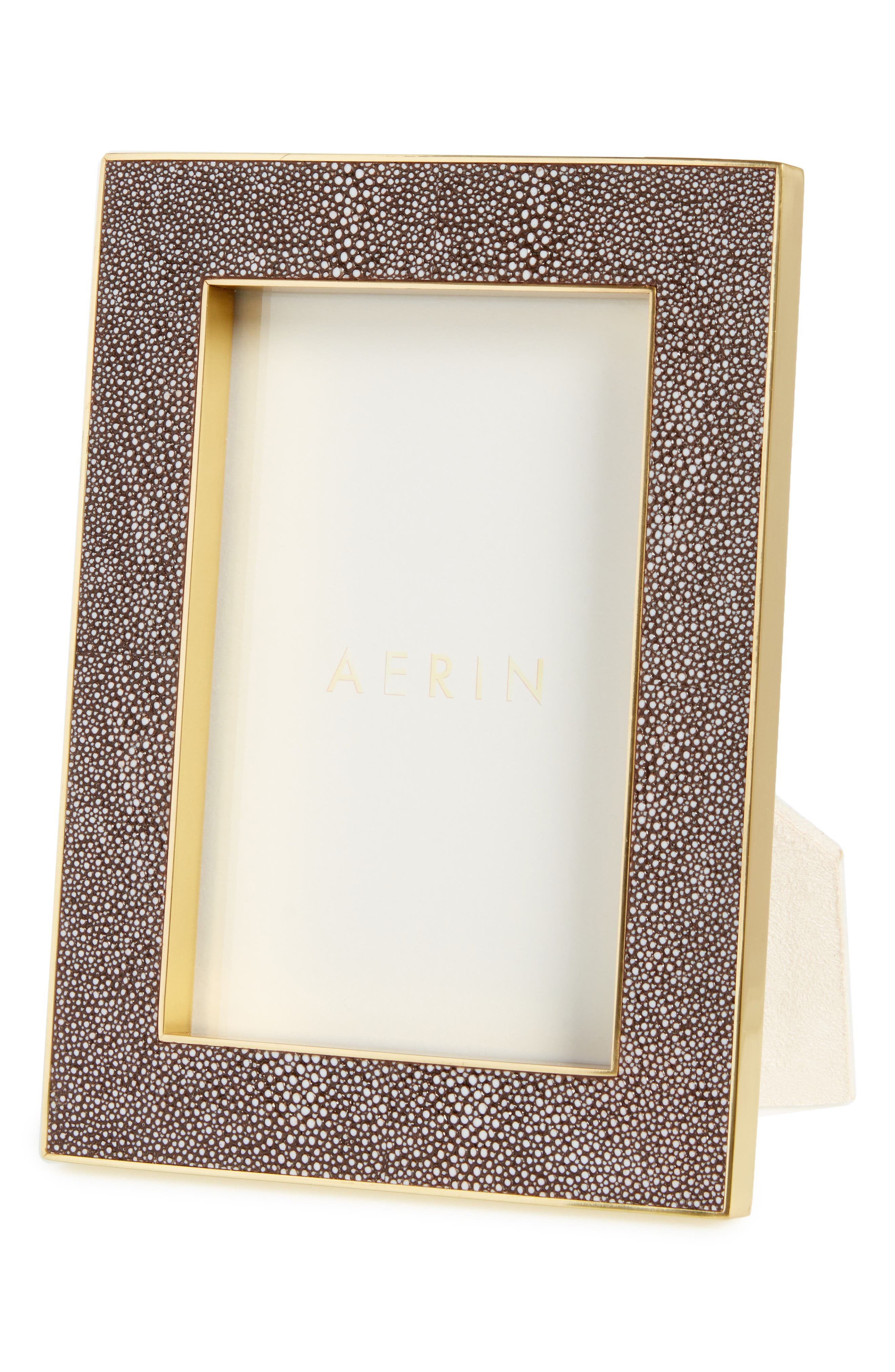 Classic Shagreen Picture Frame,                         Main,                         color, Metallic Gold