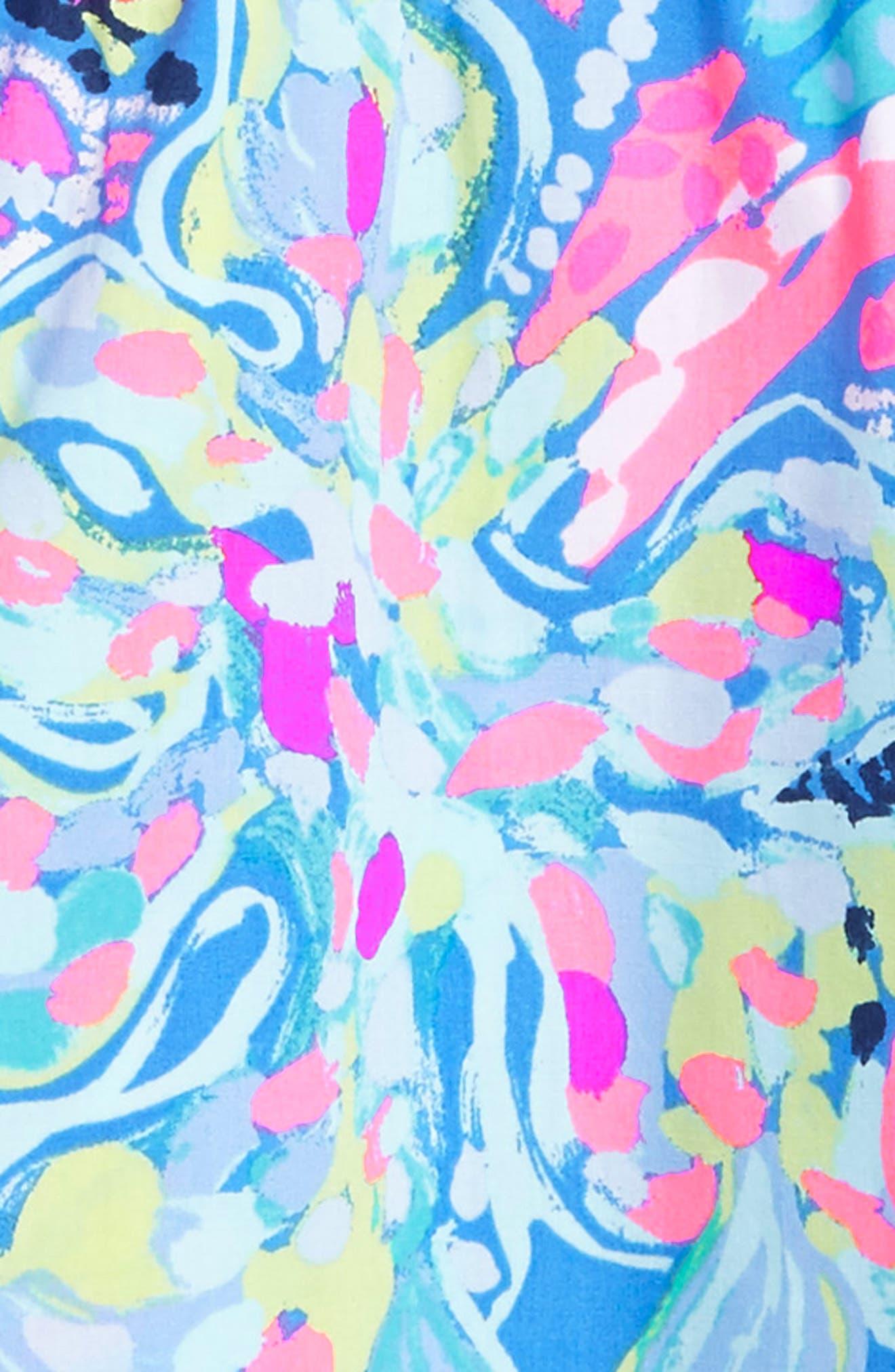 Hazel Fit & Flare Dress,                             Alternate thumbnail 3, color,                             Multi Fantasea Garden