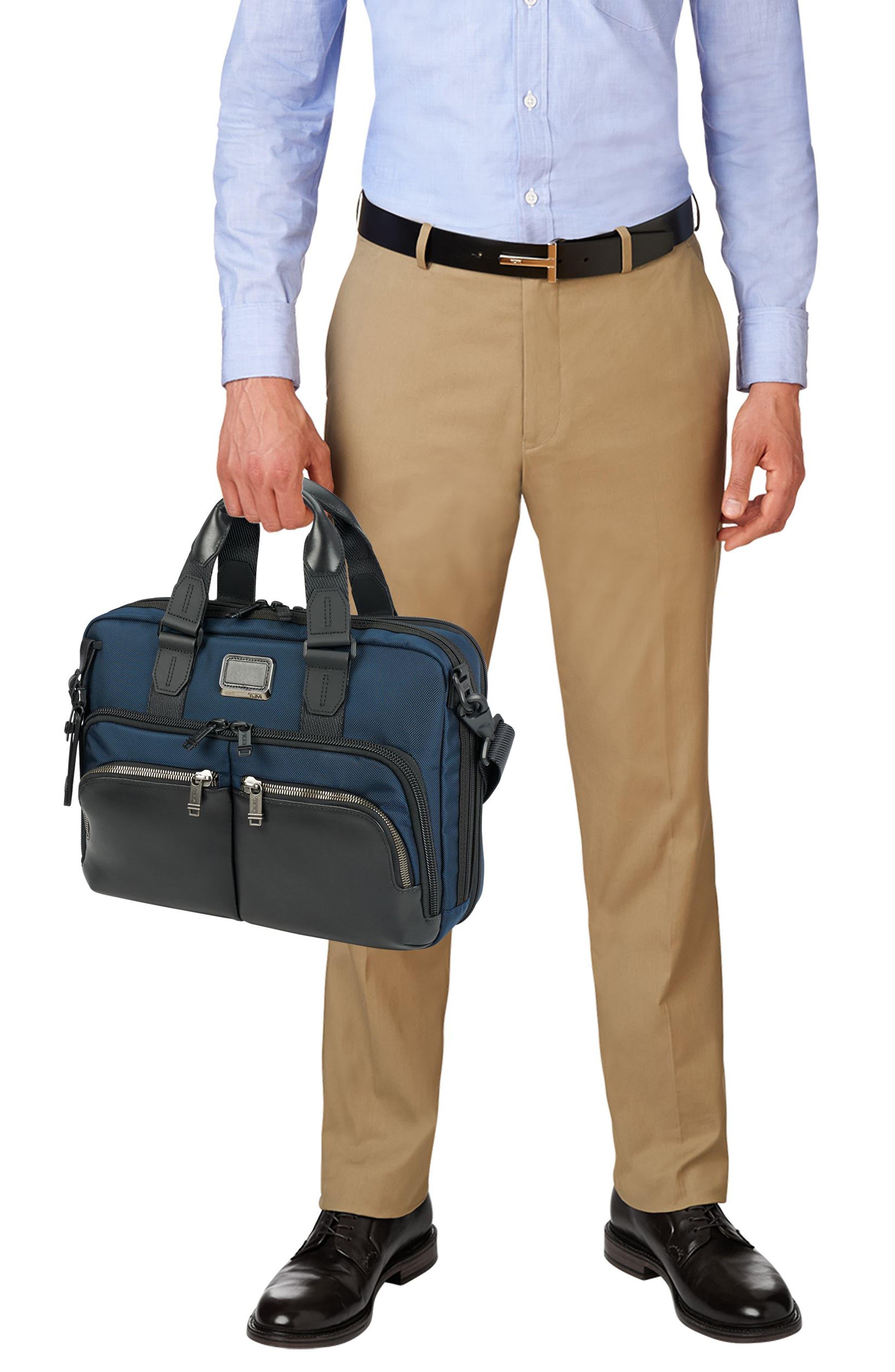 Alpha Bravo - Albany Slim Commuter Briefcase,                             Alternate thumbnail 2, color,                             Navy