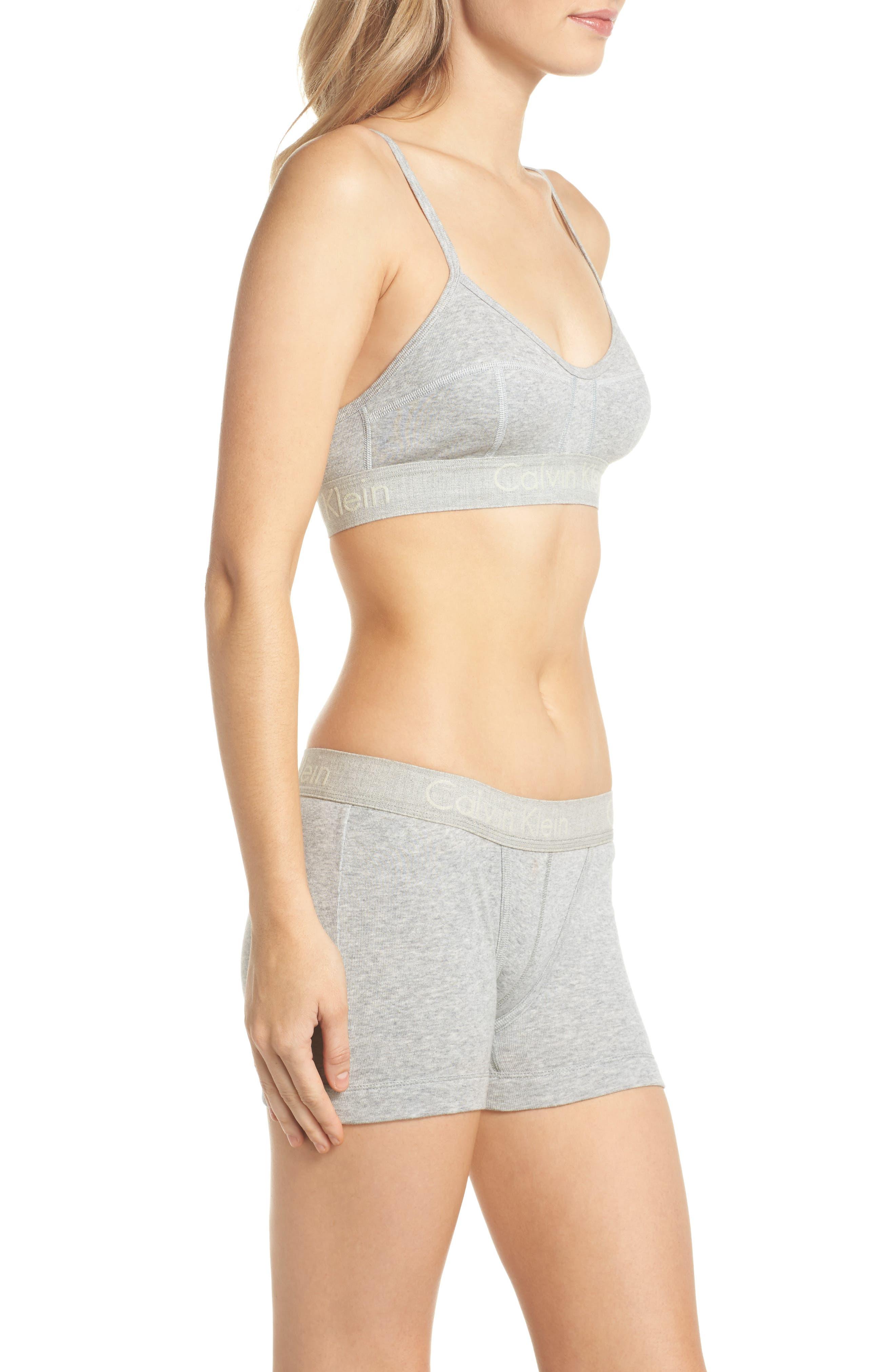 Body Convertible Cotton Bralette,                             Alternate thumbnail 9, color,                             Grey Heather
