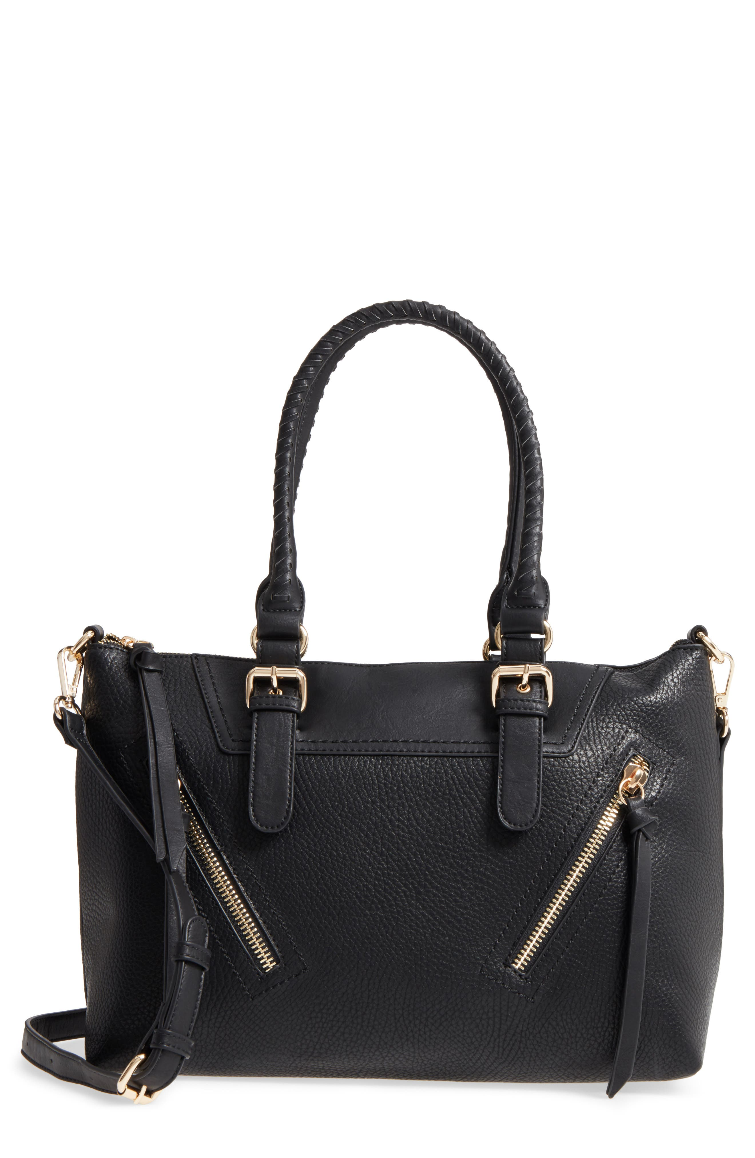 Alternate Image 1 Selected - Sole Society Girard Faux Leather Satchel