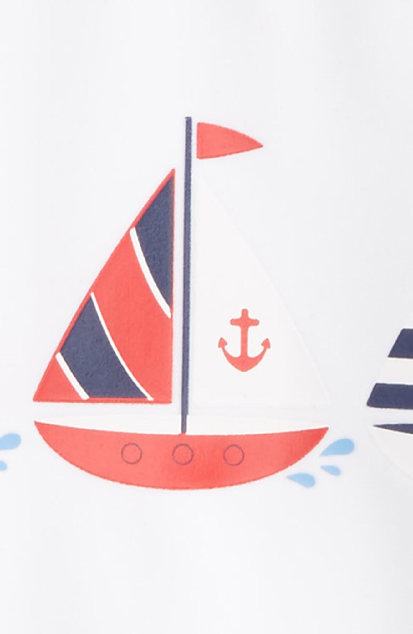 Alternate Image 2  - Little Me Sailboat UPF 50+ Rashguard (Baby Boys)