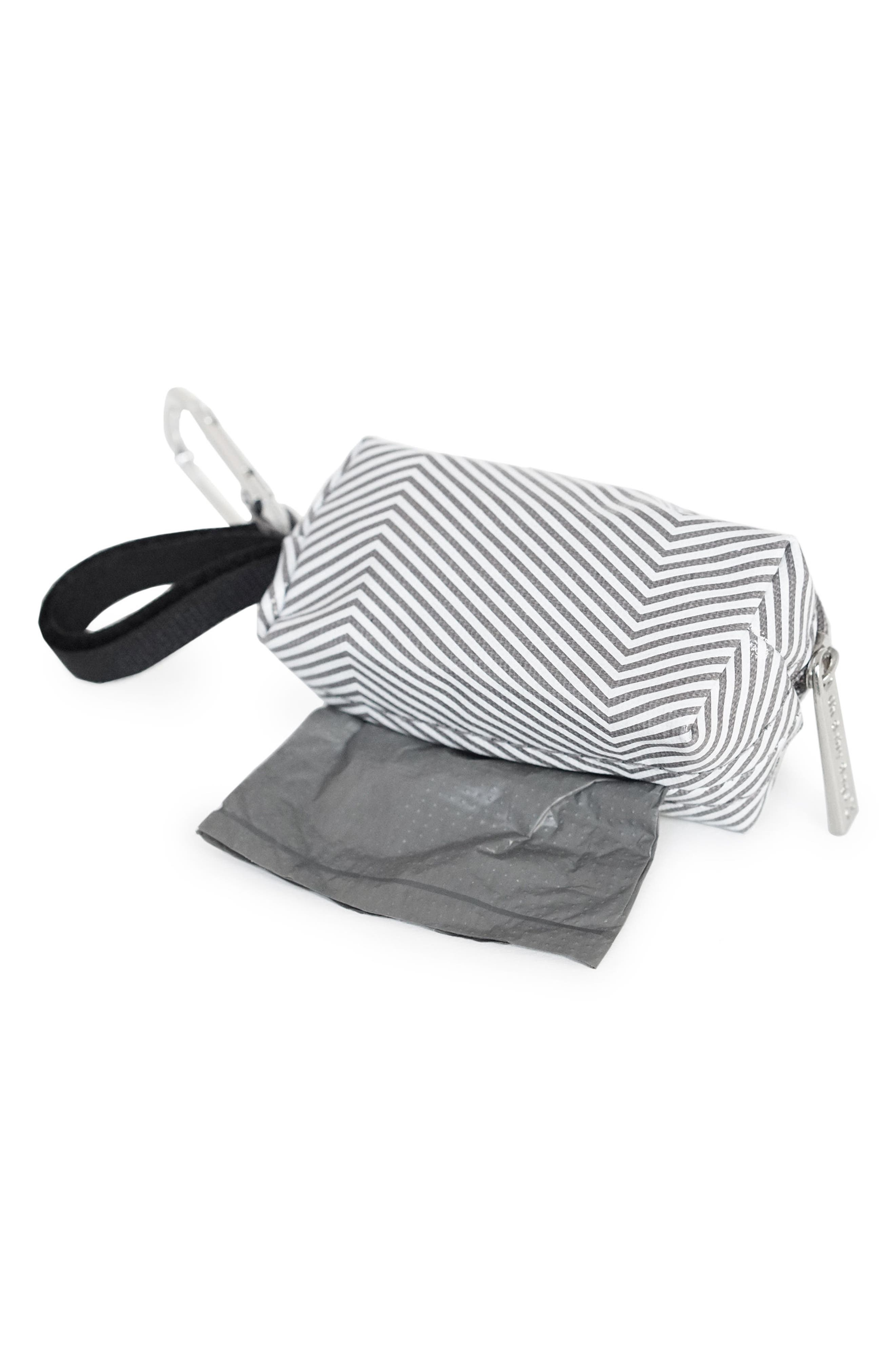 Portable Clip-On Dispenser with Bags,                             Alternate thumbnail 2, color,                             Grey Stripe