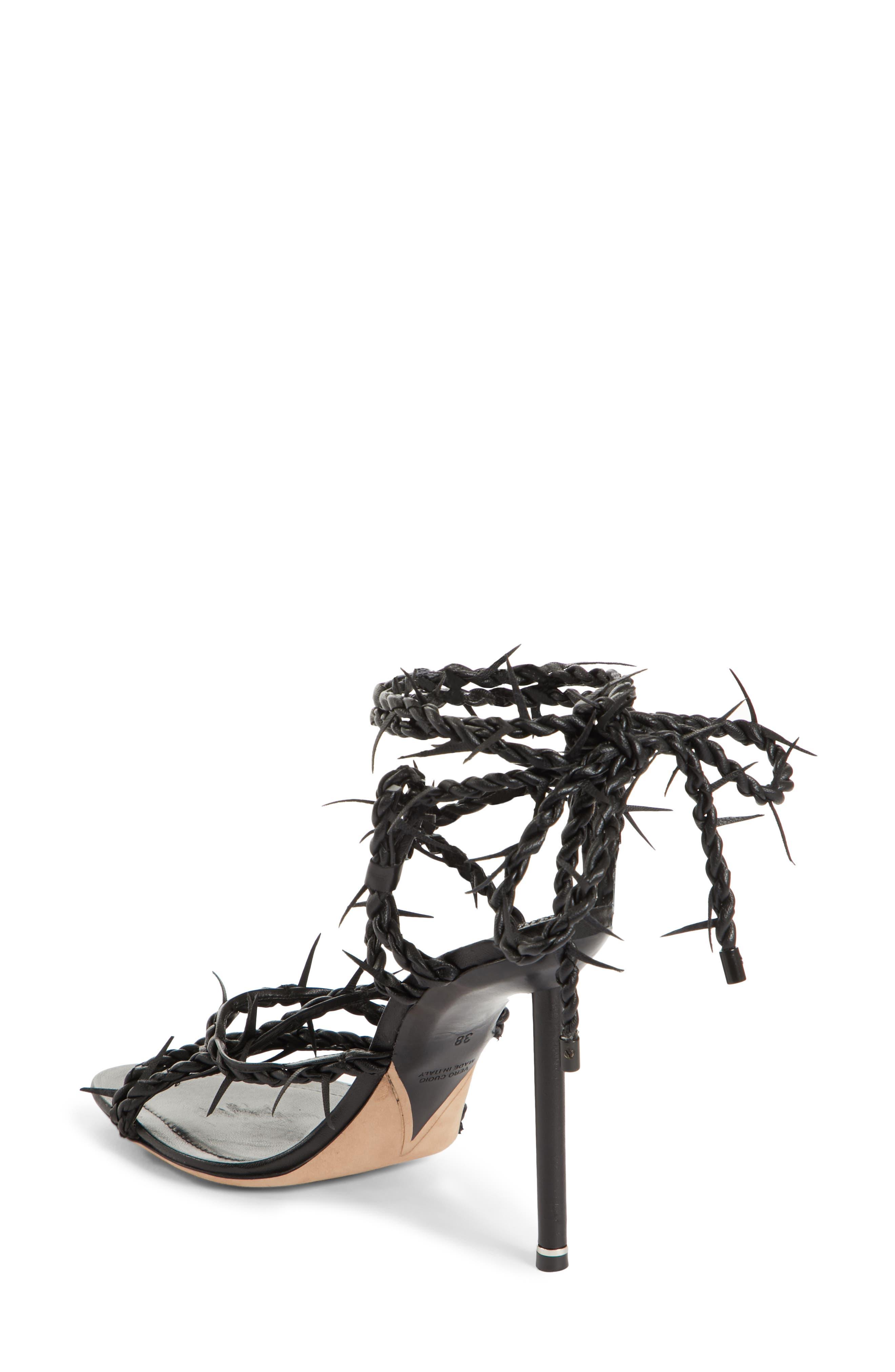 Lexie Cabel Wire Sandal,                             Alternate thumbnail 2, color,                             Black