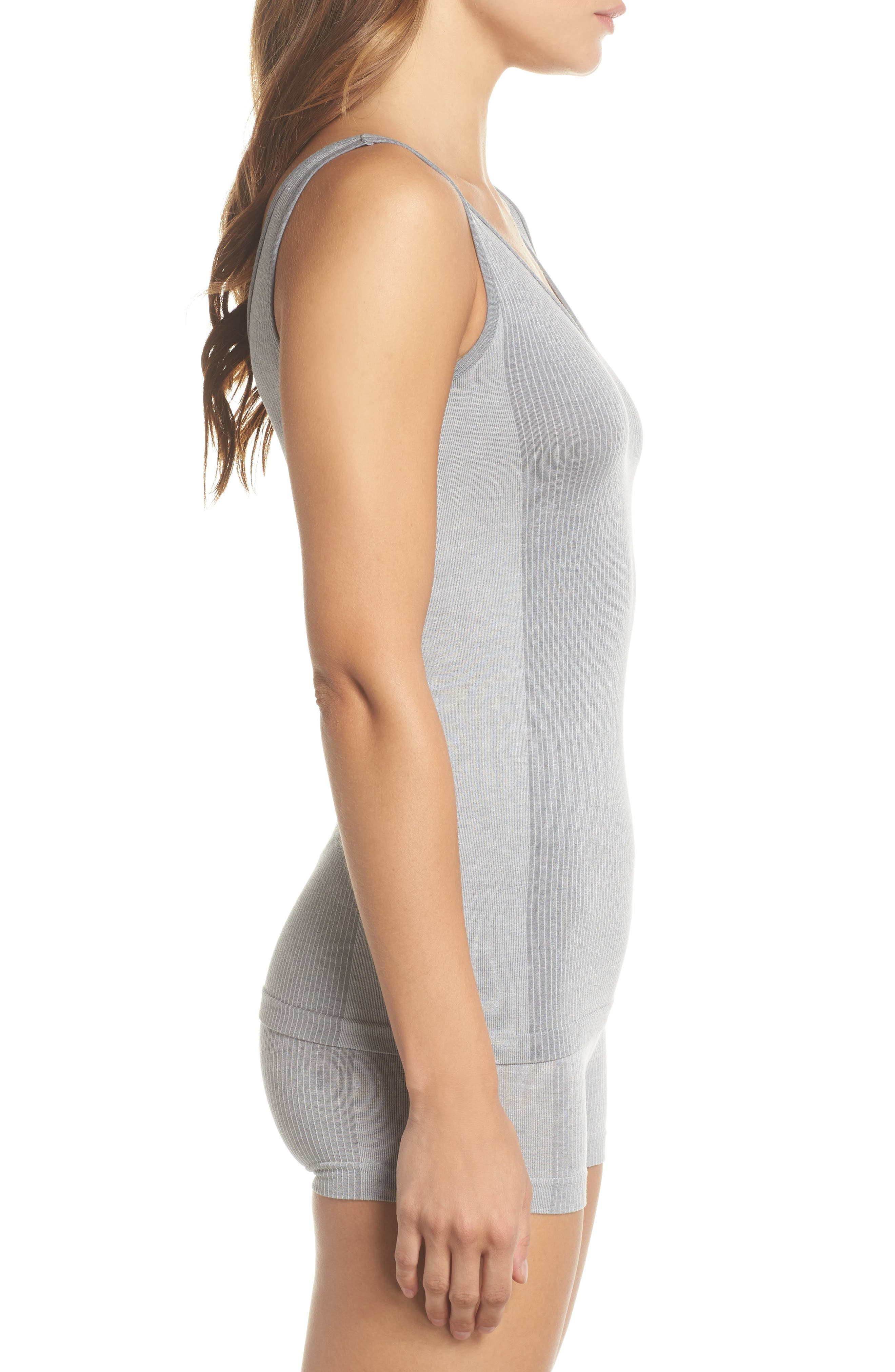 Laidback Layers Two-Way Seamless Tank,                             Alternate thumbnail 3, color,                             Light Heather Grey