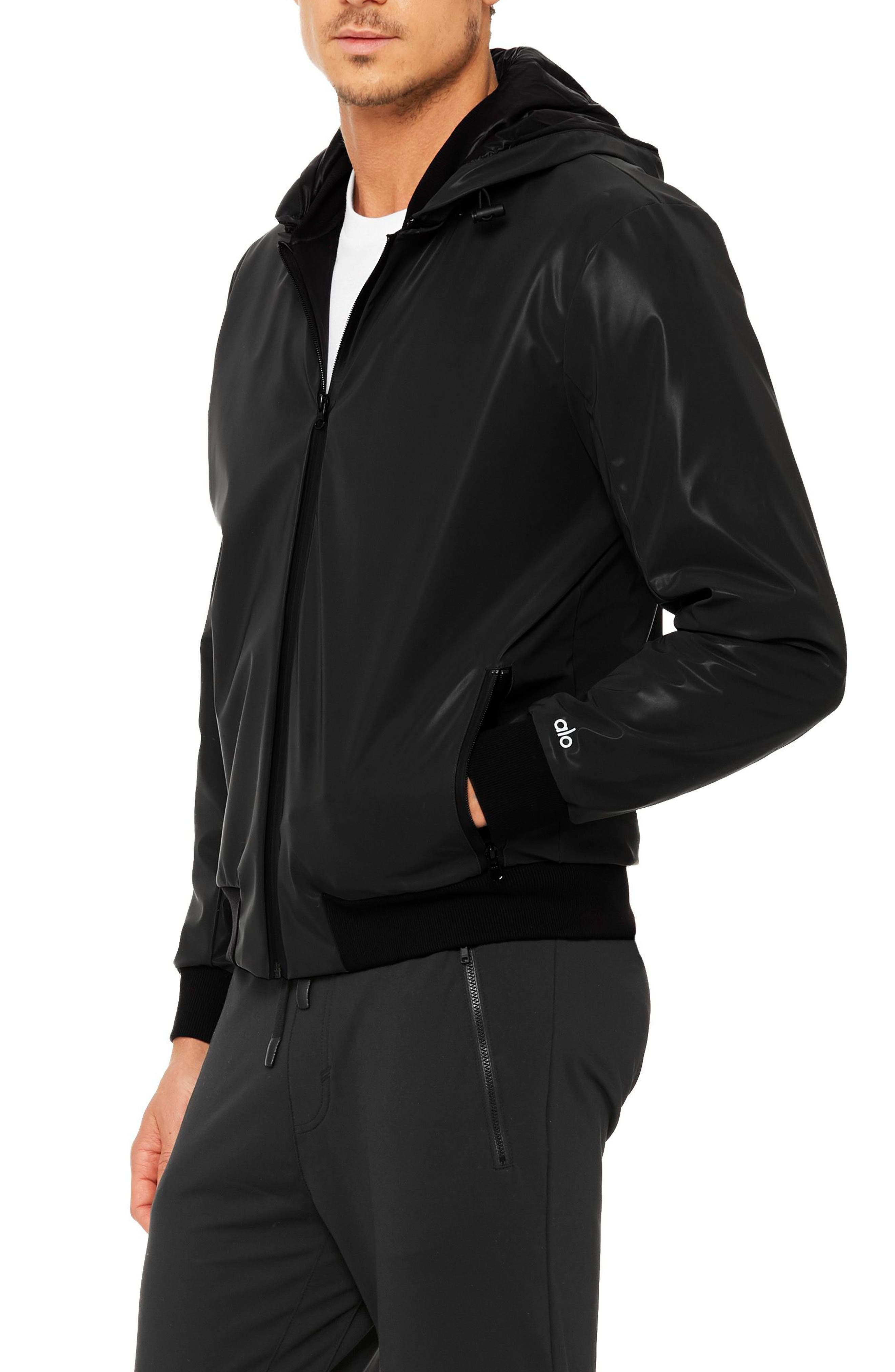 Fleet Bomber Jacket,                             Alternate thumbnail 2, color,                             Black