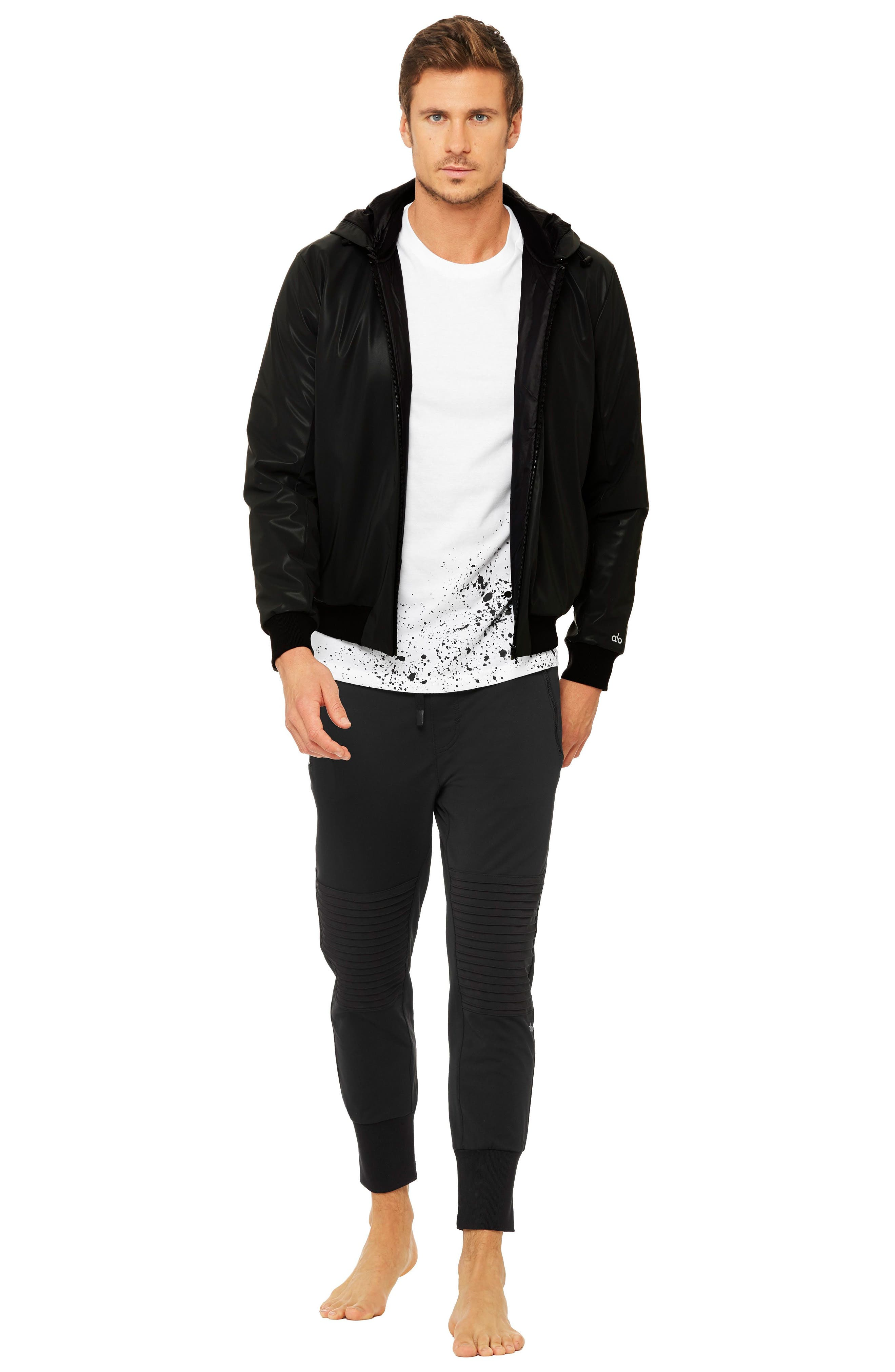 Fleet Bomber Jacket,                             Alternate thumbnail 3, color,                             Black
