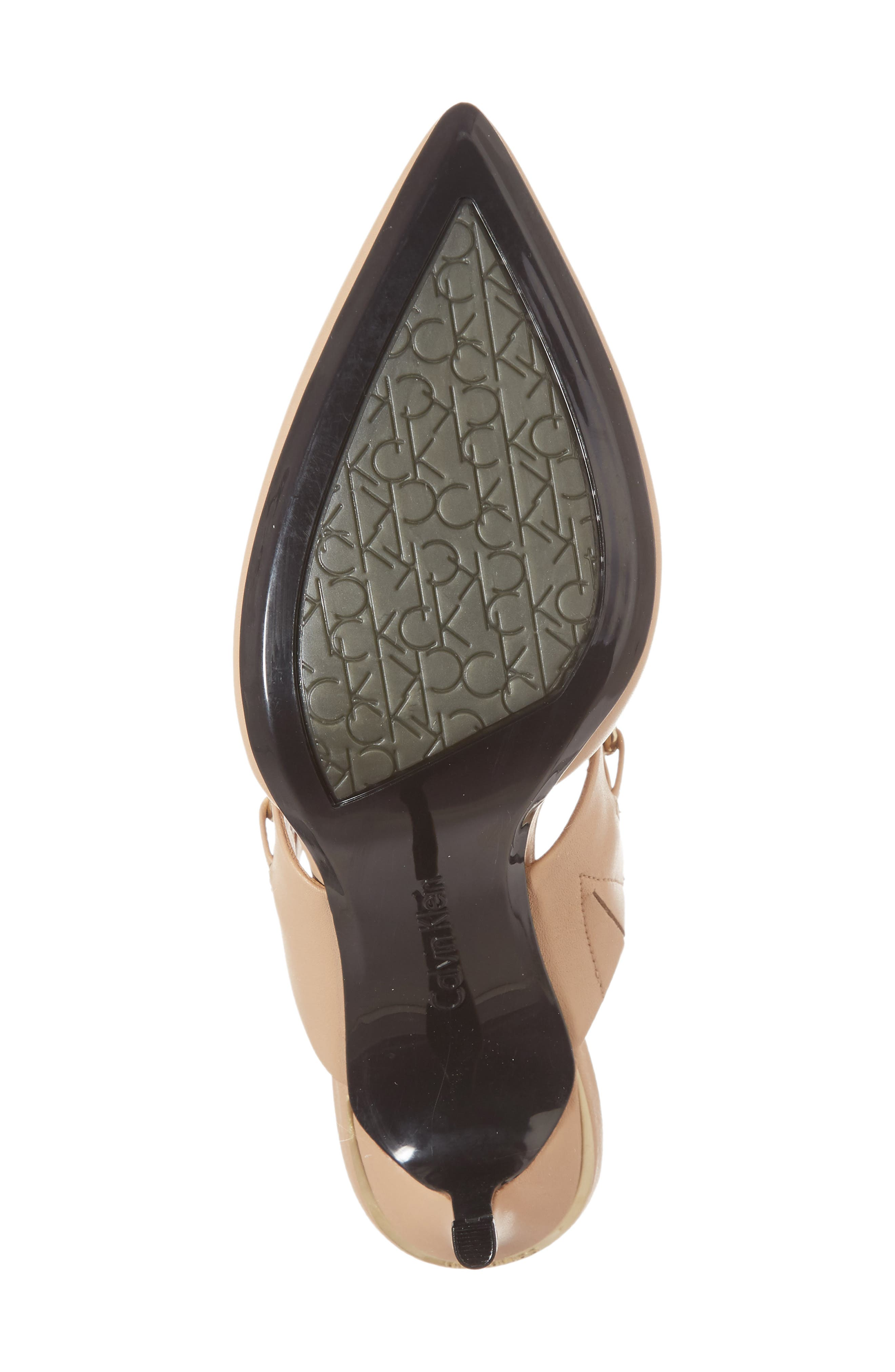 Ginette Embellished Pointy Toe Mule,                             Alternate thumbnail 6, color,                             Sandstorm Leather