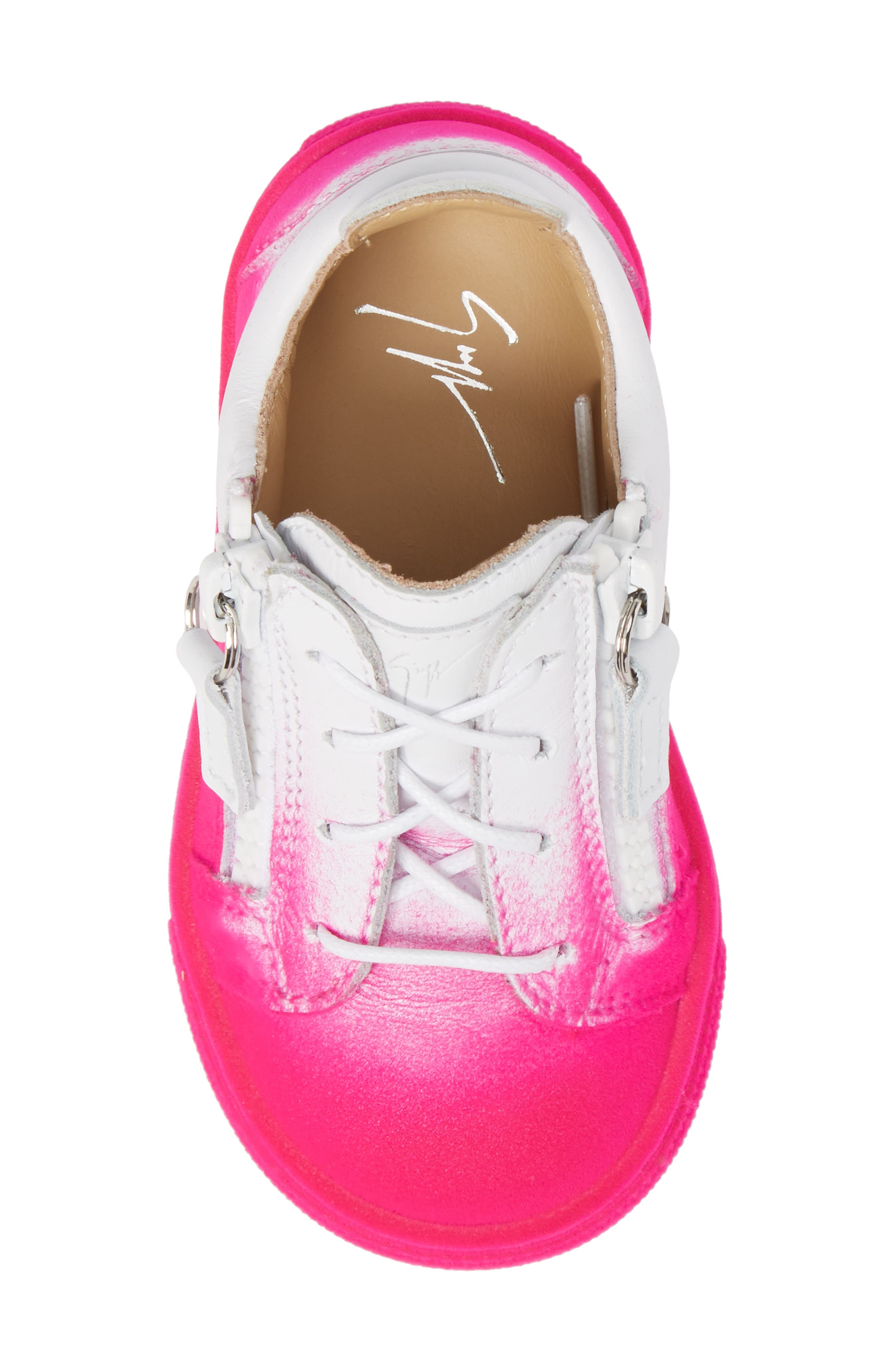 Alternate Image 5  - Giuseppe Zanotti Smuggy Ombré Flocked Sneaker (Baby, Walker, Toddler & Little Kid)