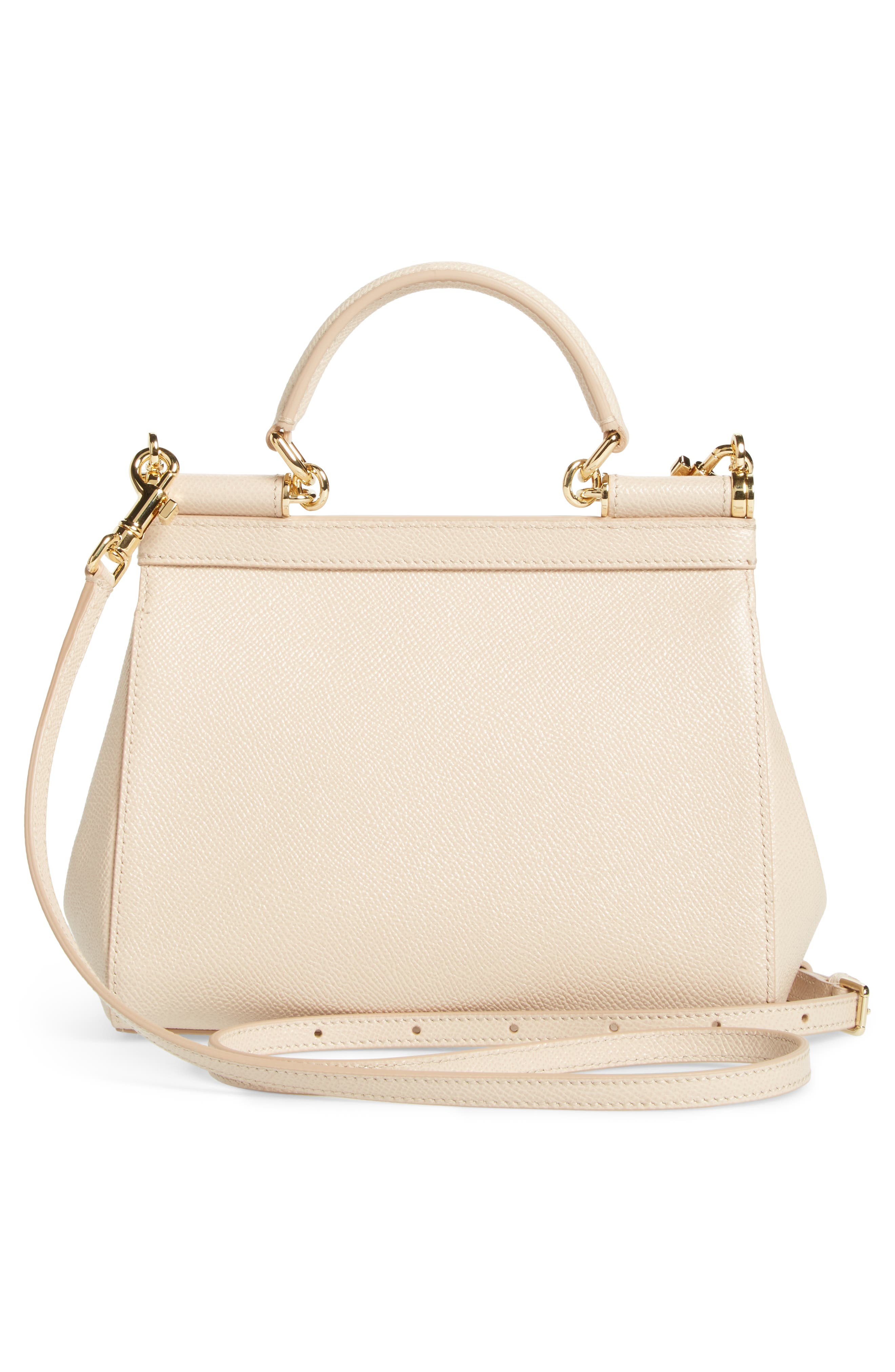 Small Miss Sicily Leather Satchel,                             Alternate thumbnail 3, color,                             Pink Skin