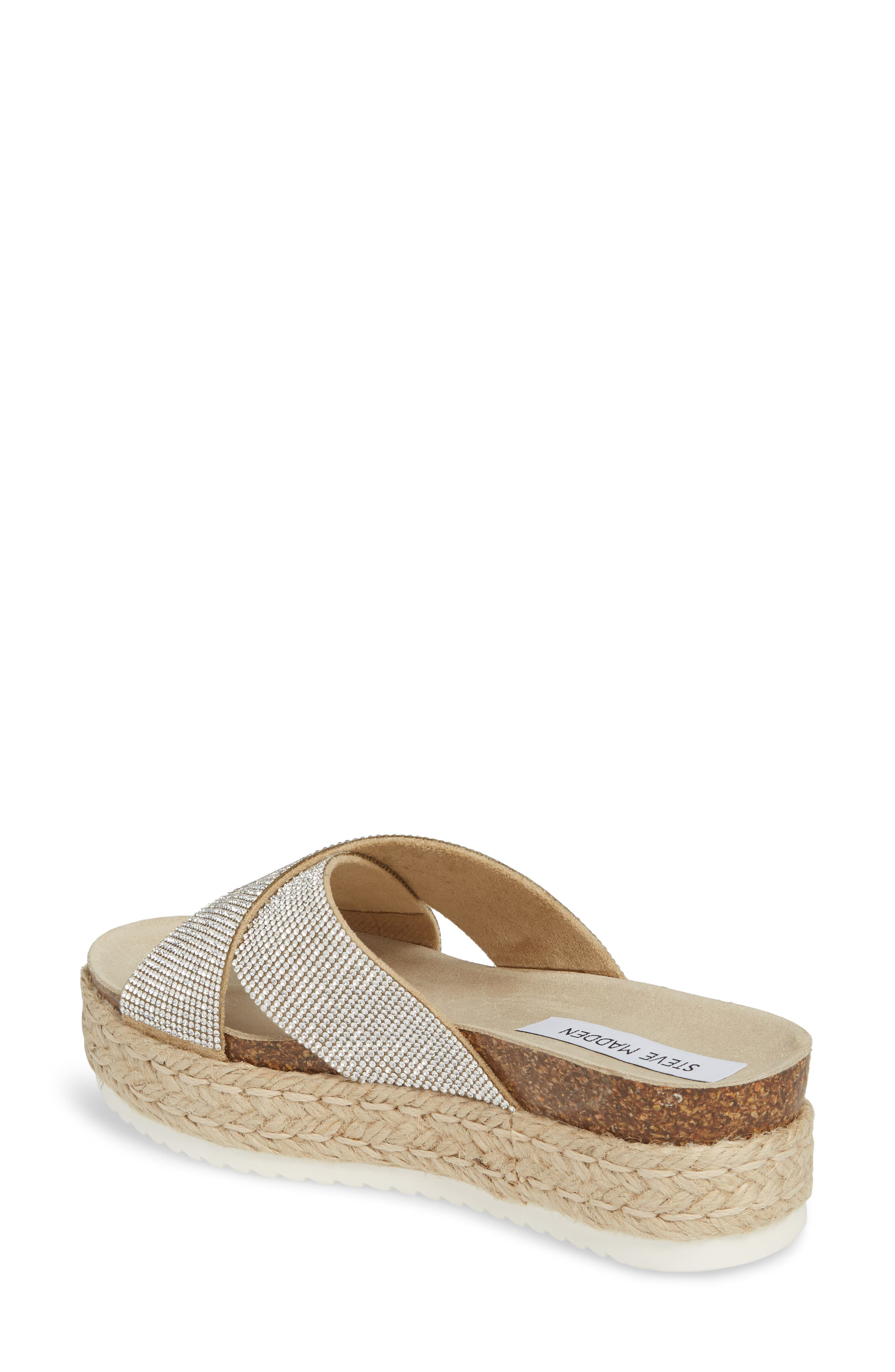 Arran-R Platform Espadrille Sandal,                             Alternate thumbnail 2, color,                             Rhinestone