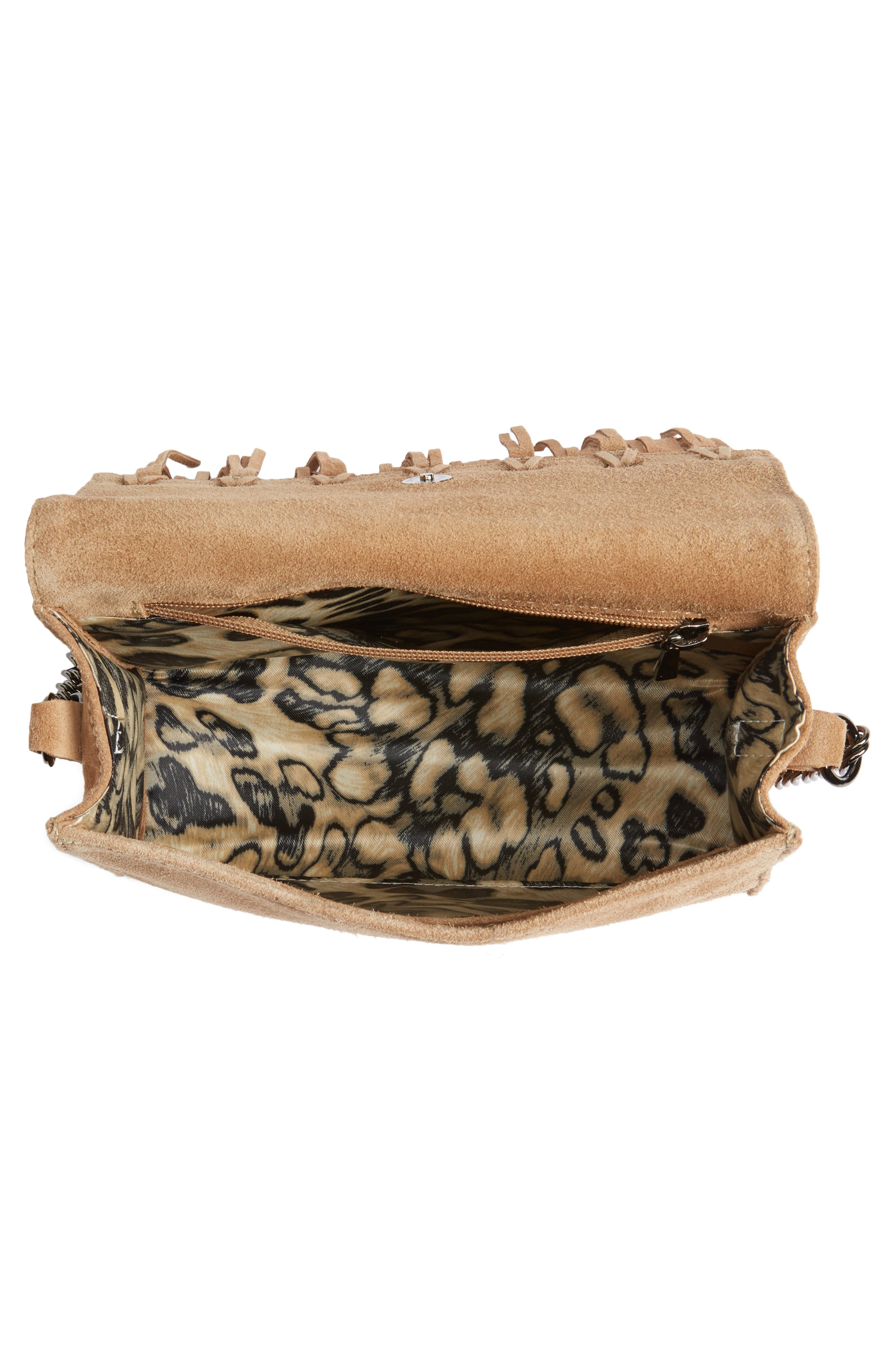 Alternate Image 4  - Longchamp Paris Rocks Fringe Calfskin Suede Crossbody Bag