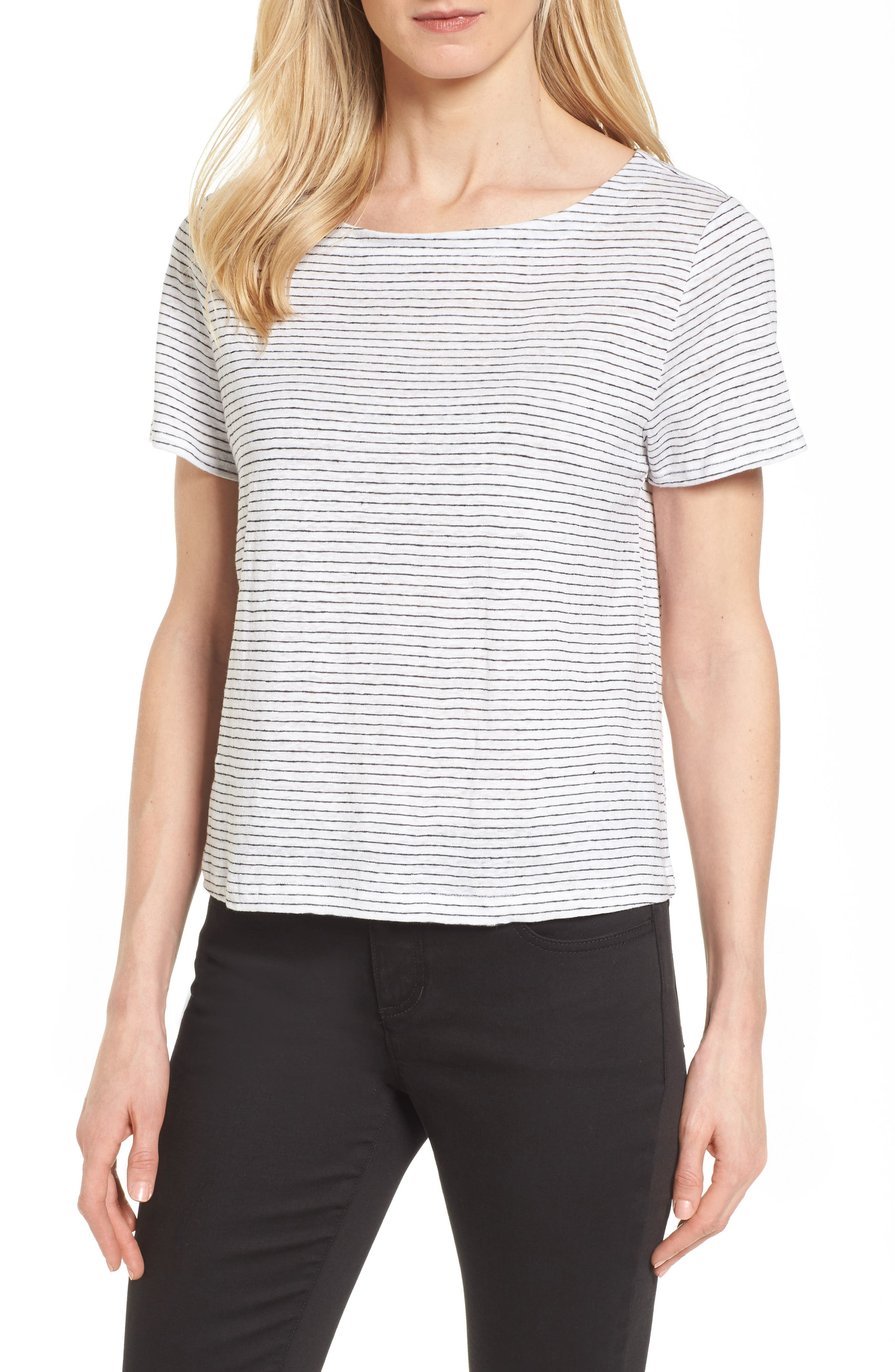 Eileen Fisher Organic Linen Tee (Regular & Petite)