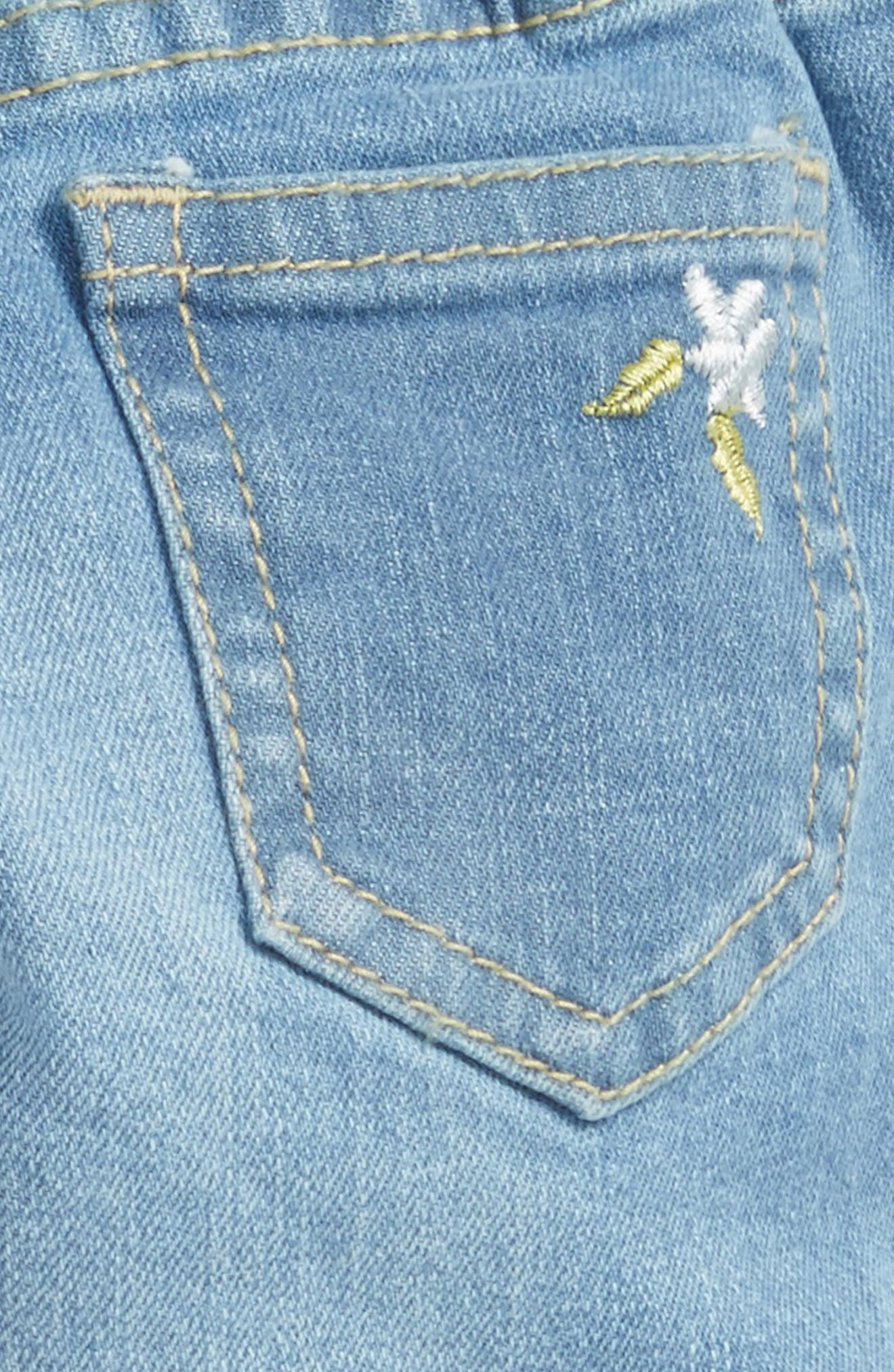 Alternate Image 3  - Peek Taylor Embroidered Jeans (Baby Girls)