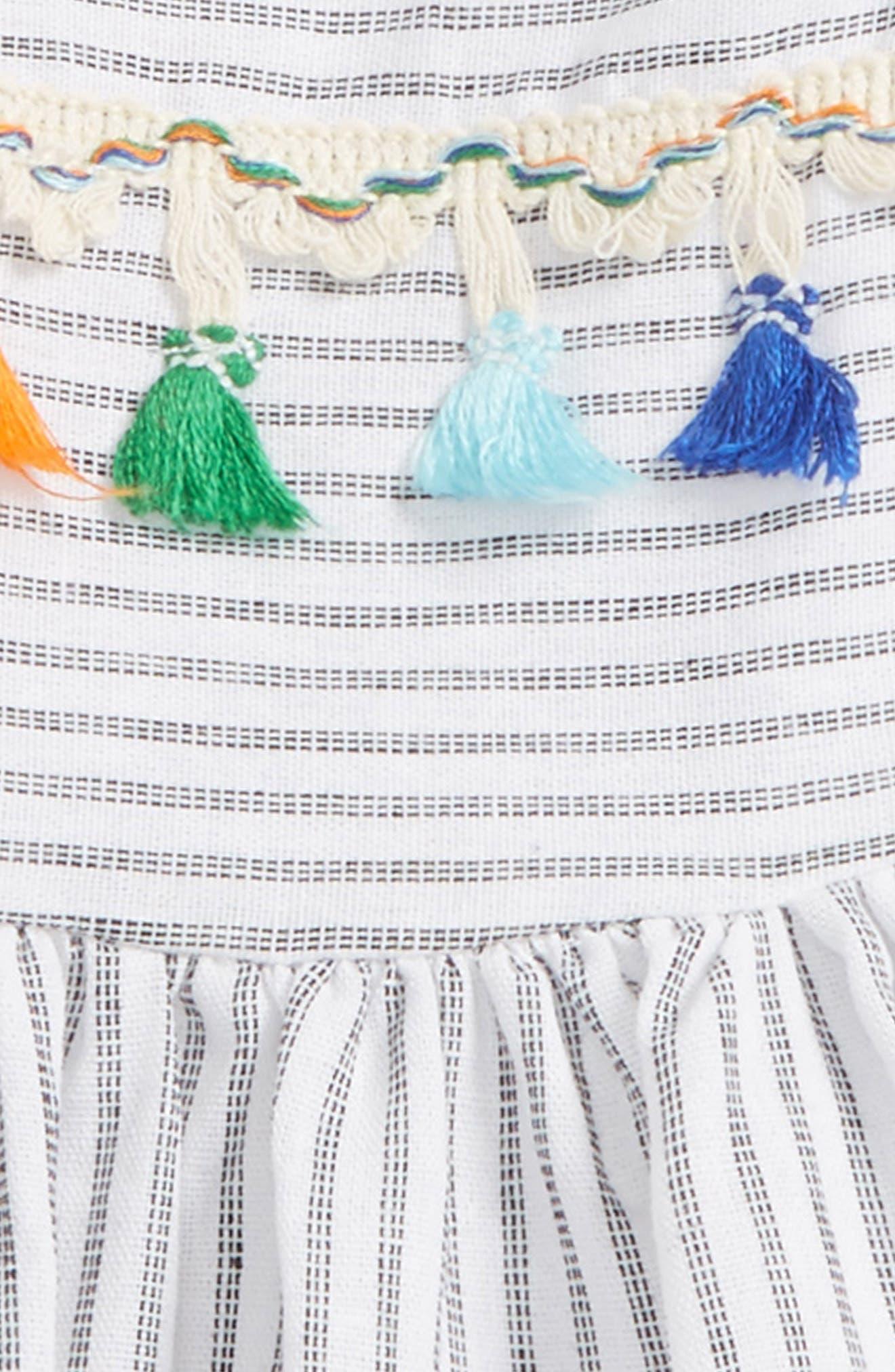Alternate Image 3  - Pippa & Julie Stripe Tassel Dress (Baby Girls)