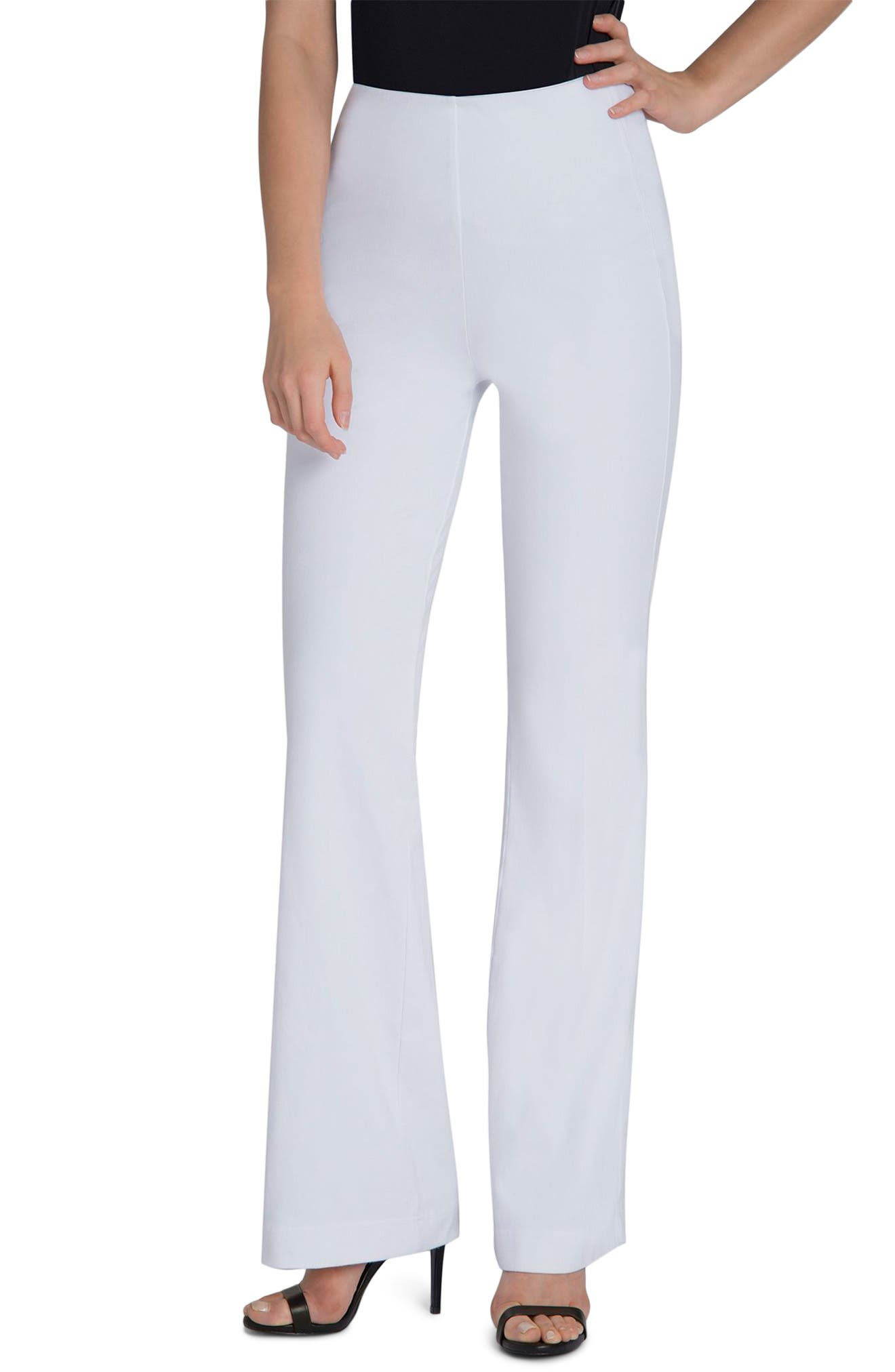 Wide Leg Denim Trousers,                             Main thumbnail 1, color,                             White