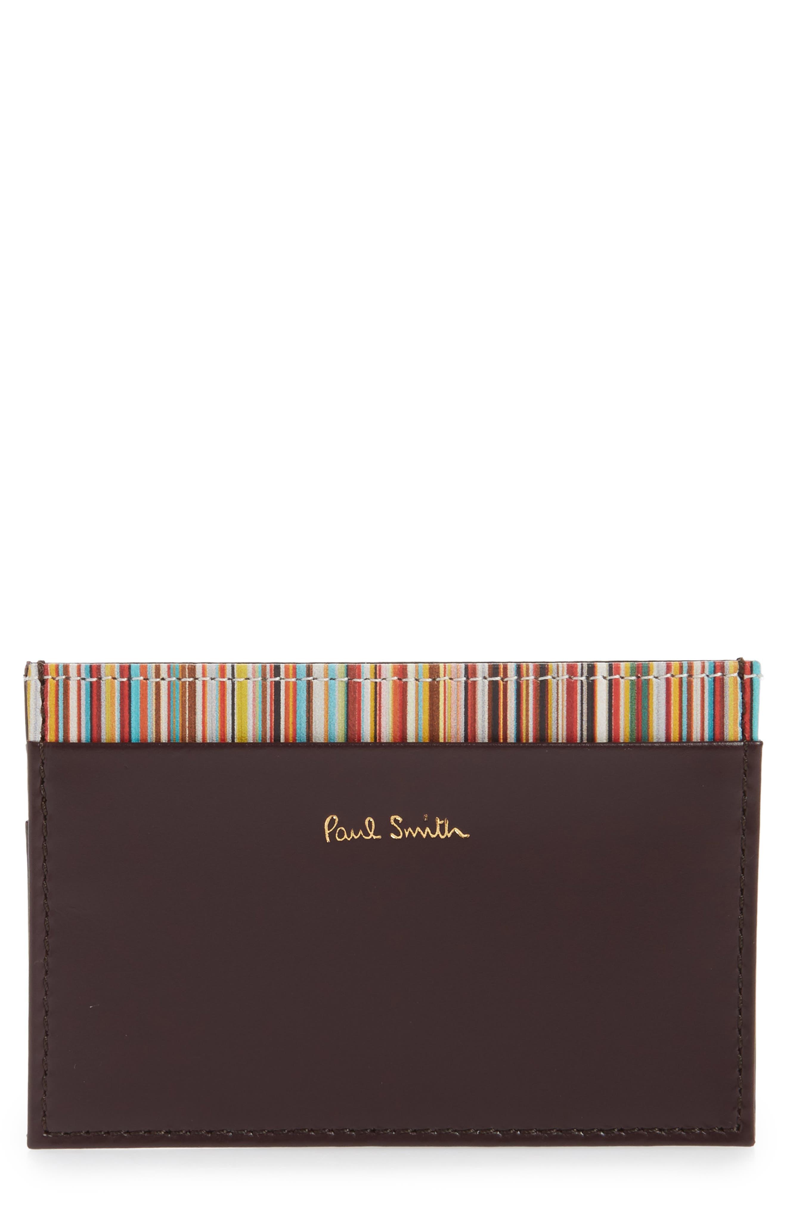 Alternate Image 1 Selected - Paul Smith Multistripe Card Case