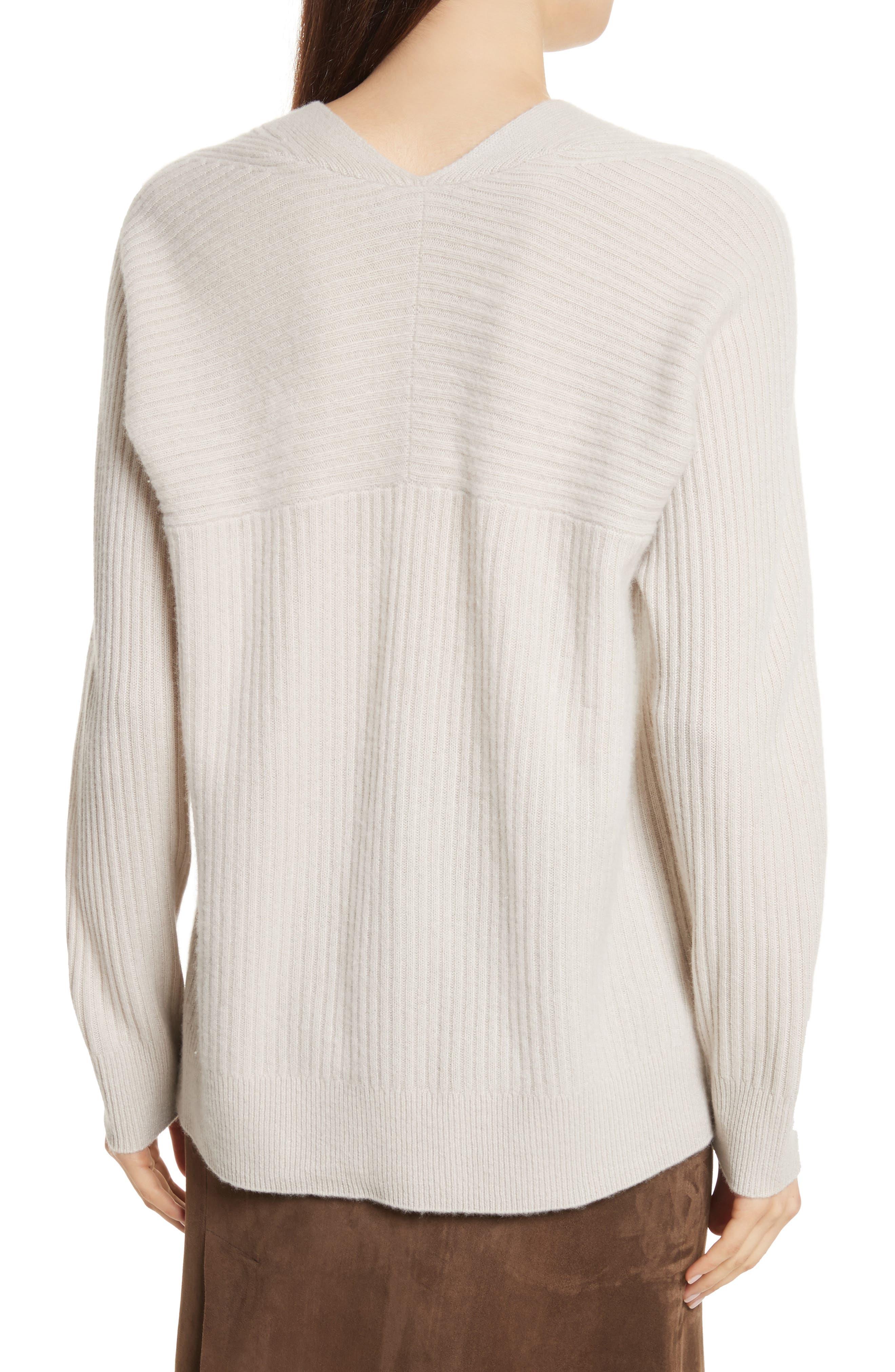 Wool Blend Raglan V-Neck Sweater,                             Alternate thumbnail 2, color,                             Chalet