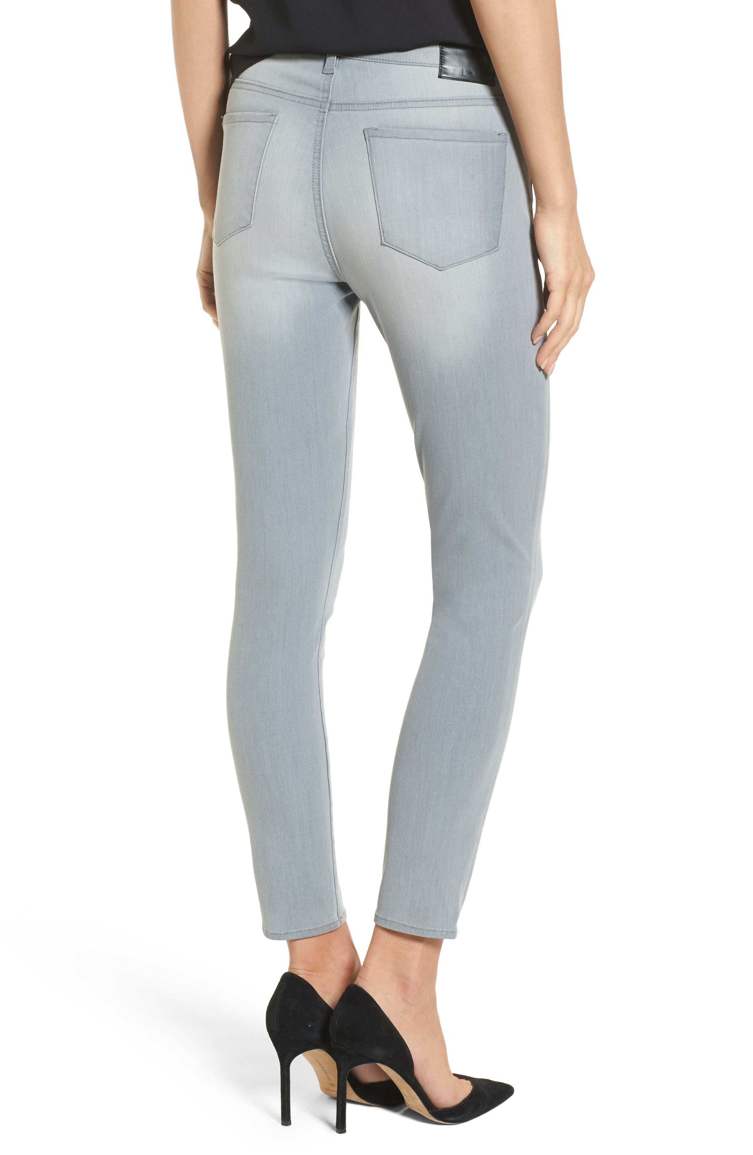 High Waist Skinny Jeans,                             Alternate thumbnail 2, color,                             Grey Wash