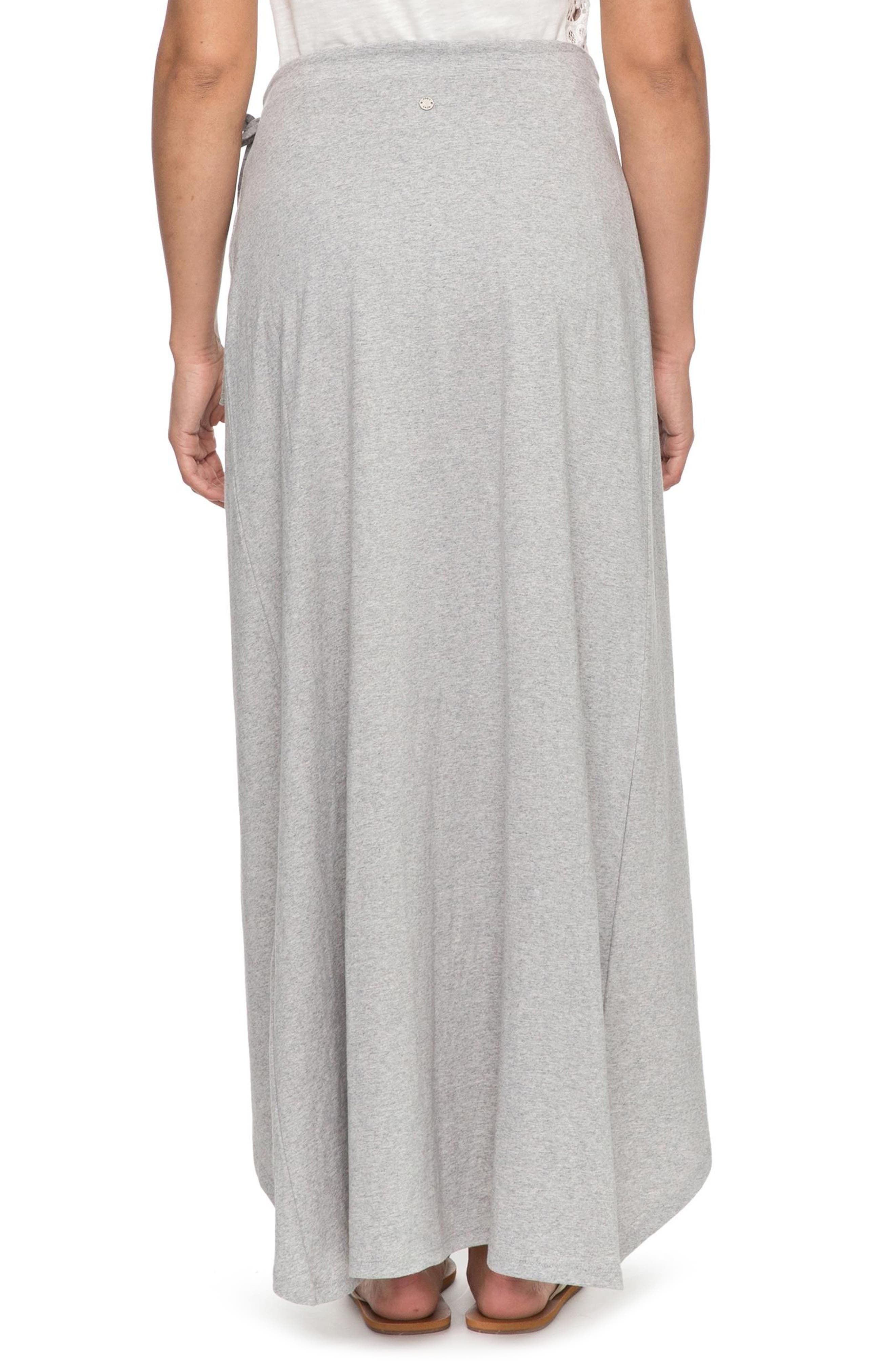 Everlasting Afternoon Long Wrap Skirt,                             Alternate thumbnail 3, color,                             Heritage Heather