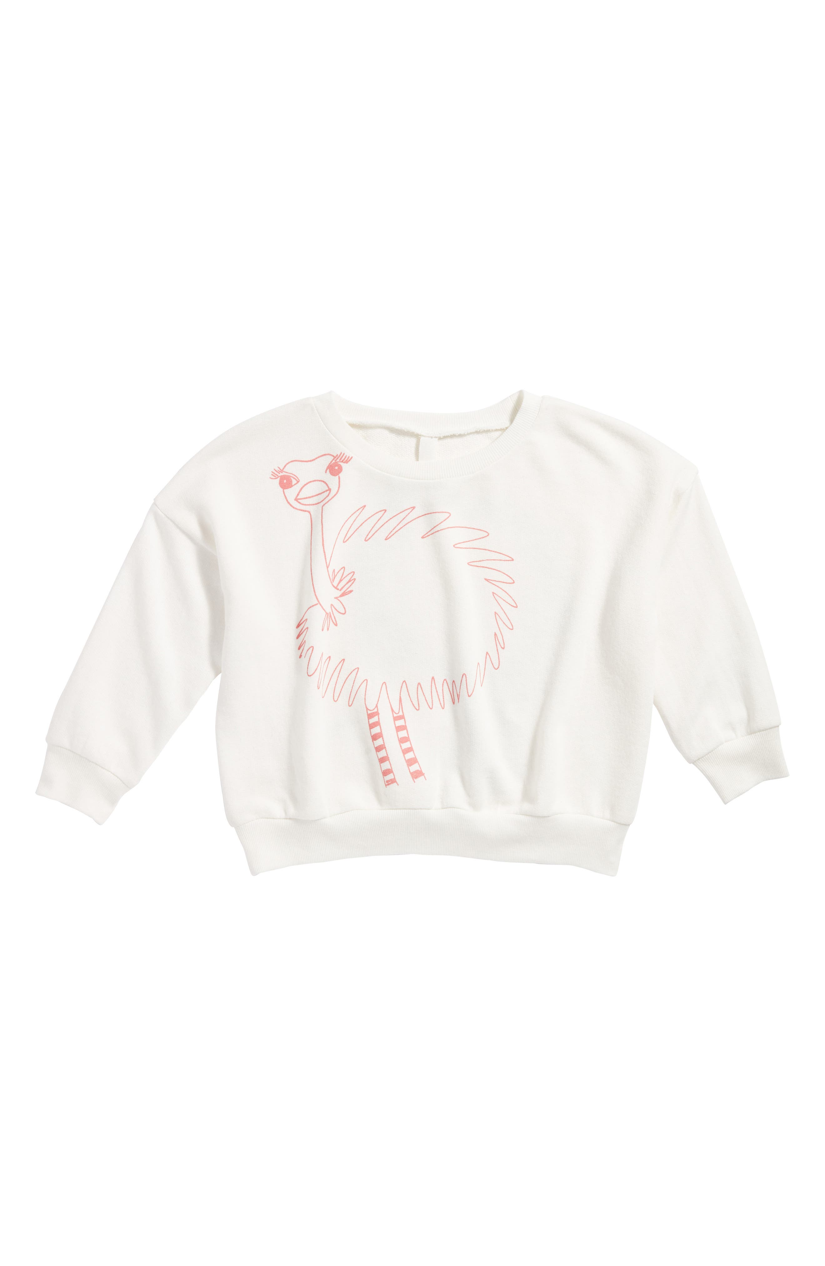 Alternate Image 1 Selected - Stem Ostrich Graphic Sweatshirt (Toddler Girls, Little Girls & Big Girls)