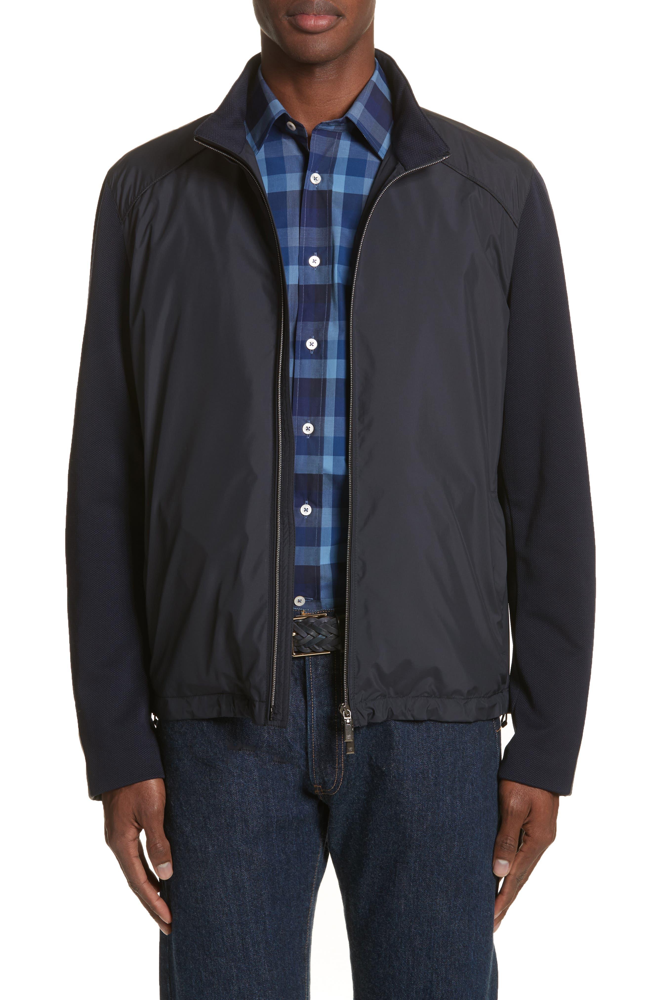 Main Image - Canali Water Repellent Microfiber Jacket