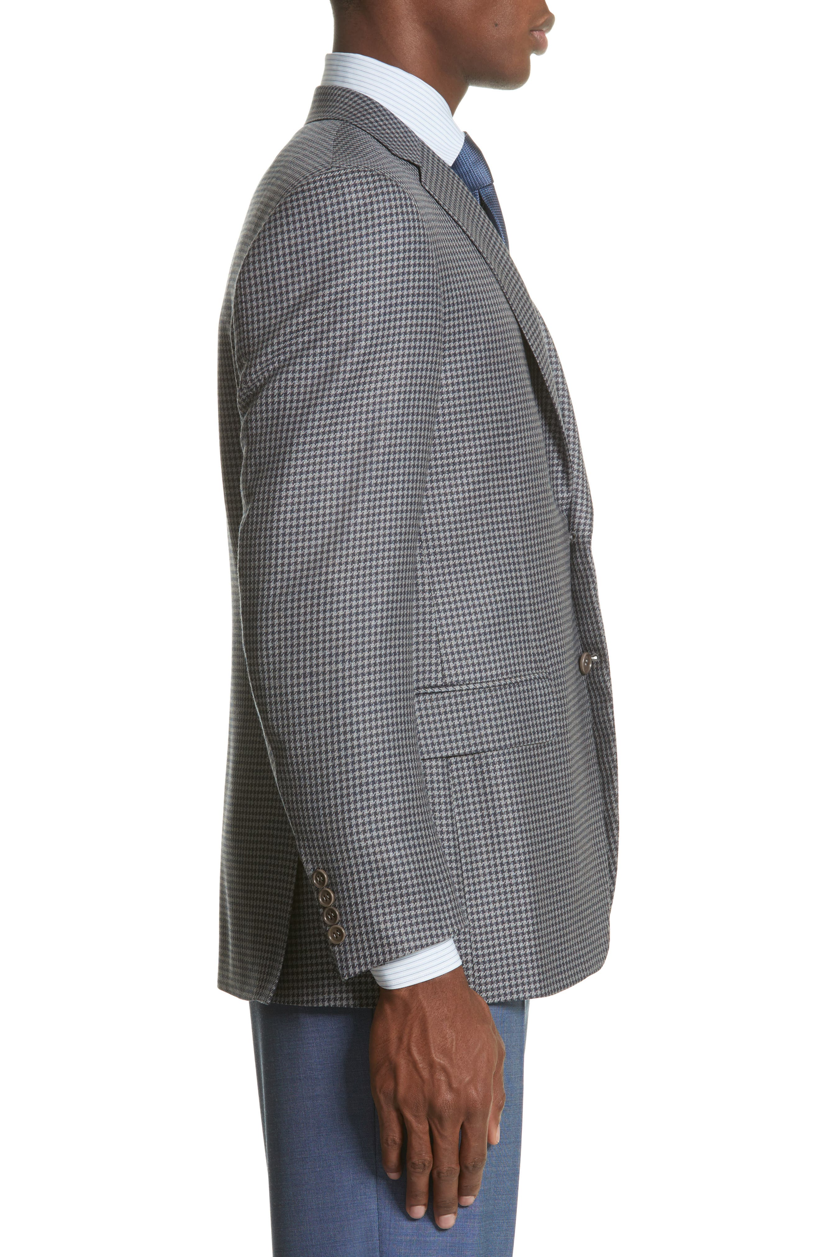Alternate Image 3  - Canali Classic Fit Houndstooth Wool Sport Coat